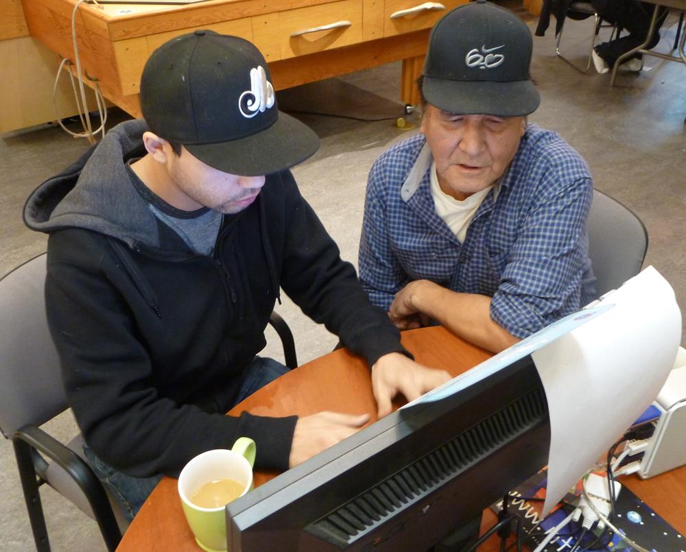 Brandon and Joel translate a story