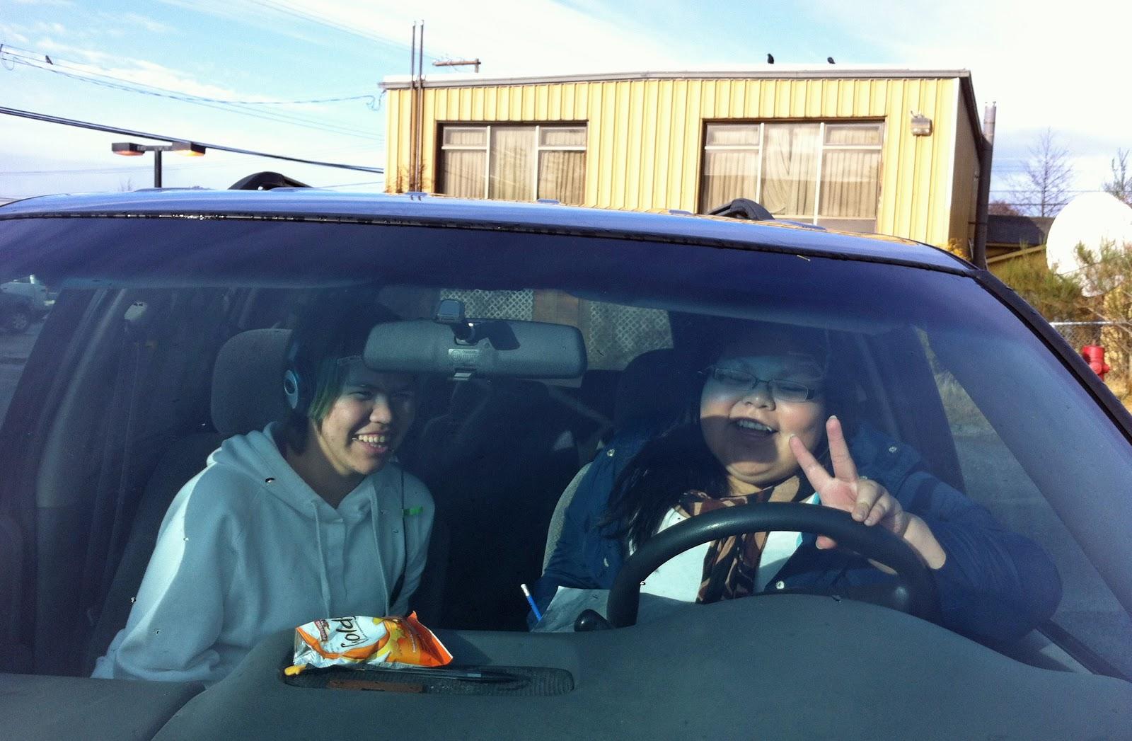 Jordyn and Kendra record their Haida.