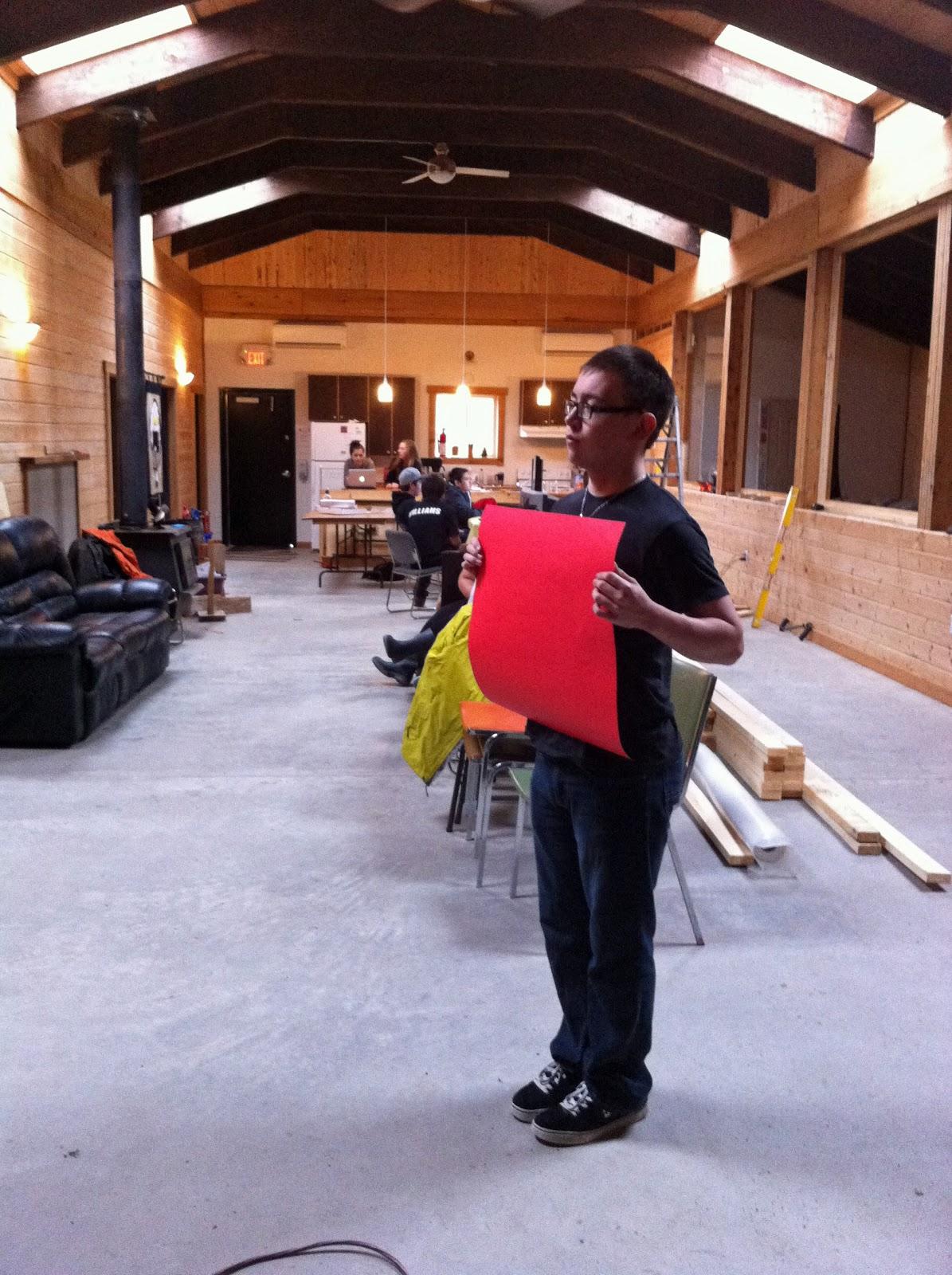 Damian creates his scene