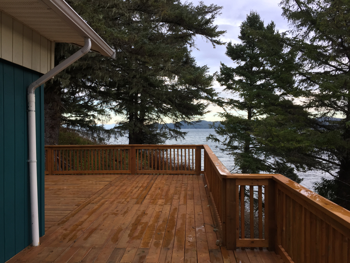 The deck and the view of the Elder Center!