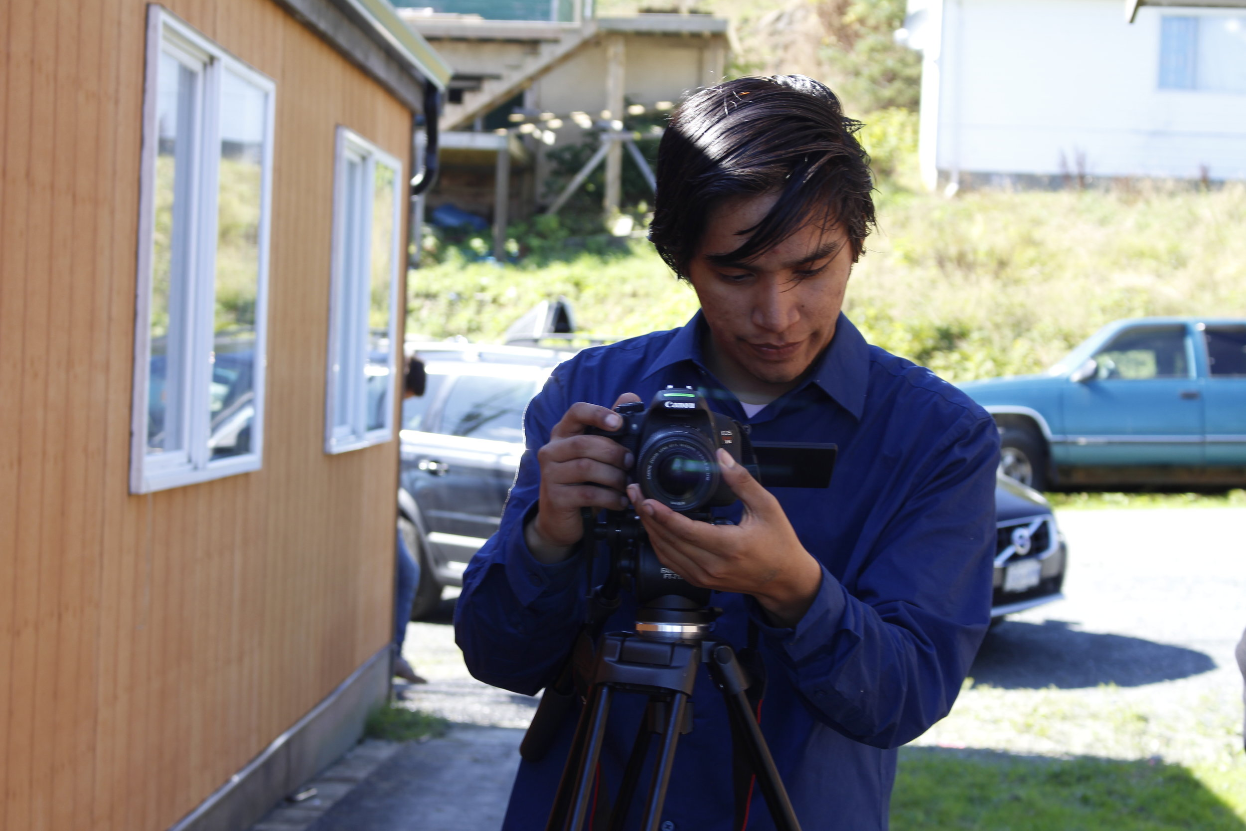 Stephen working the camera. Great photo by Roberta Williams