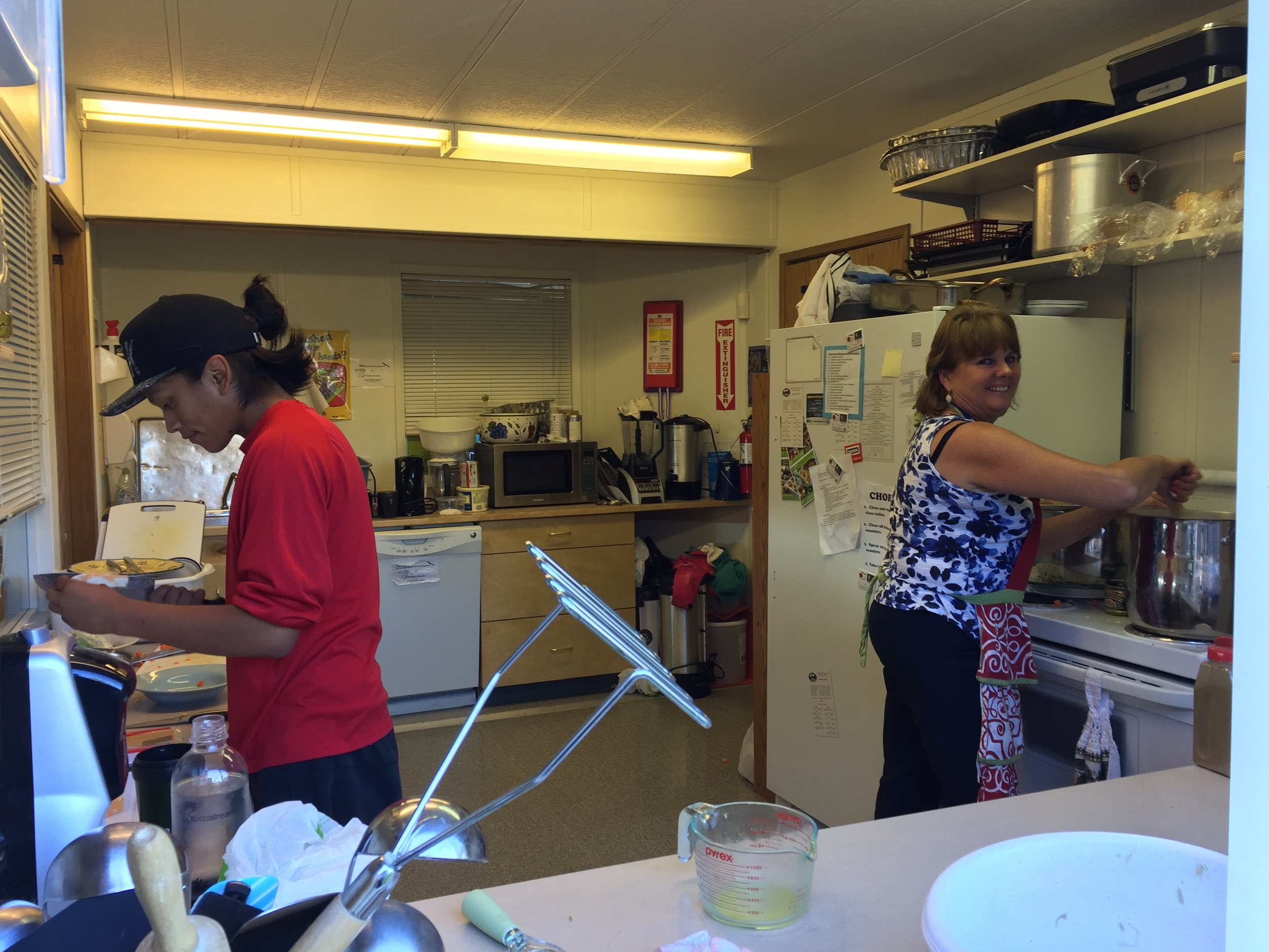 Isaiah finds time to help Debbie make lunch! Isaiah has mad skills making grilled cheese sandwiches!