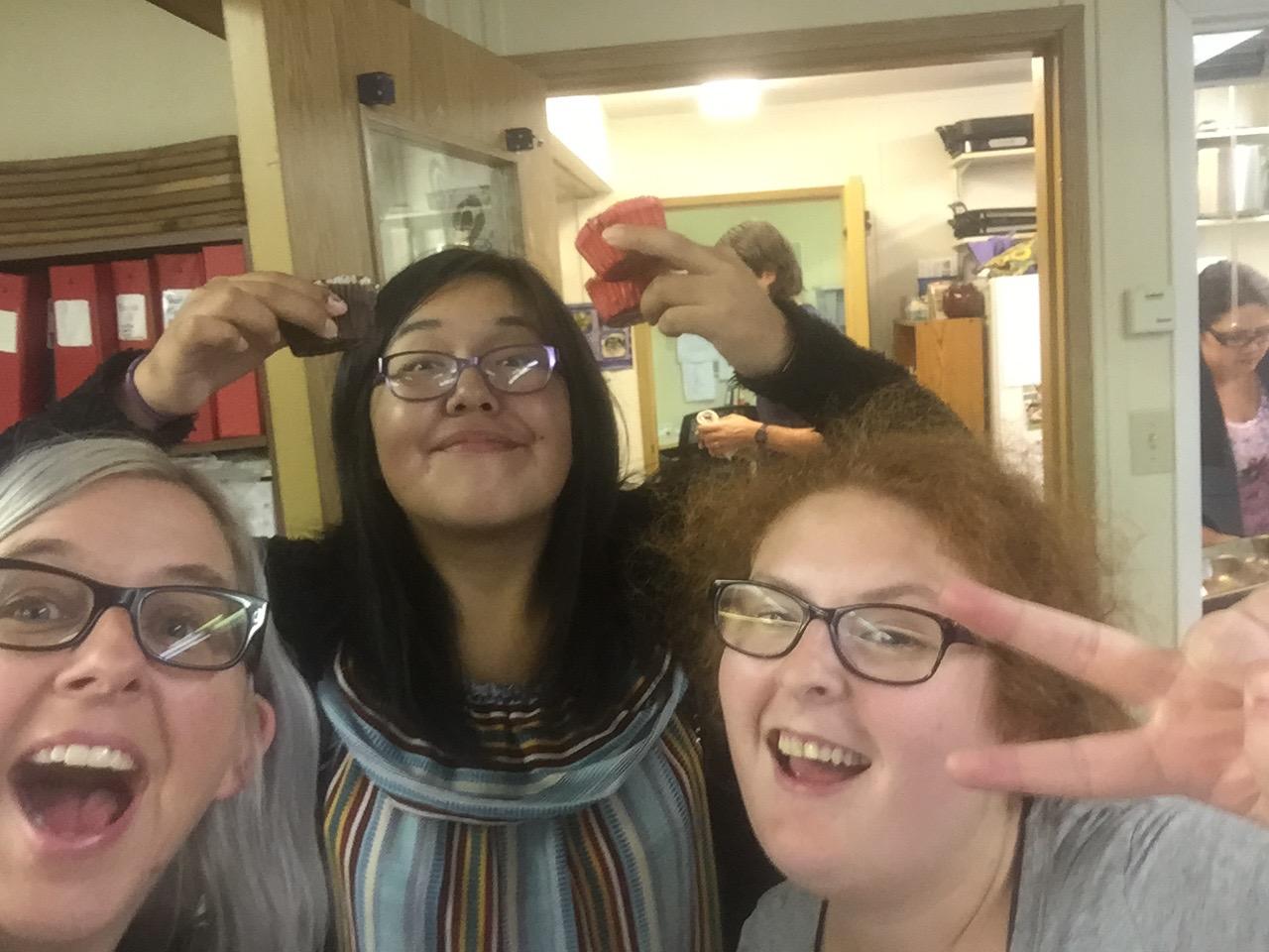 Every screening needs some post screening selfies! Robert, Lisa g and Shay! YAY!