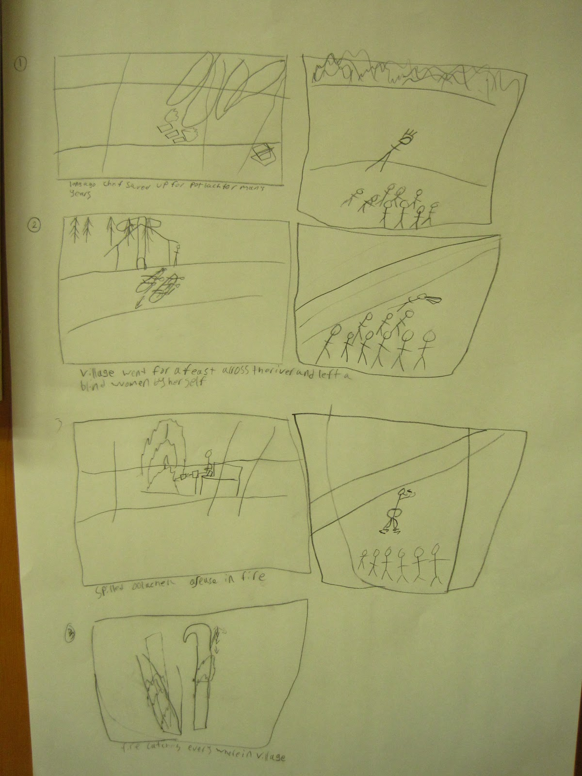 Here is Jerrel's storyboard up close