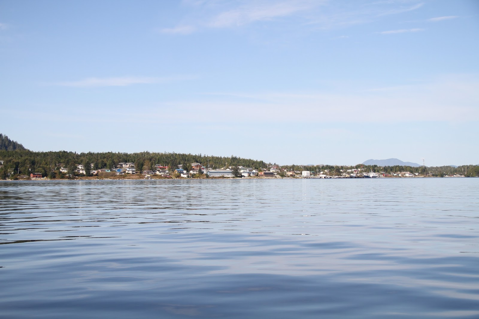 A great view of Campbell Island and the Bella Bella village site