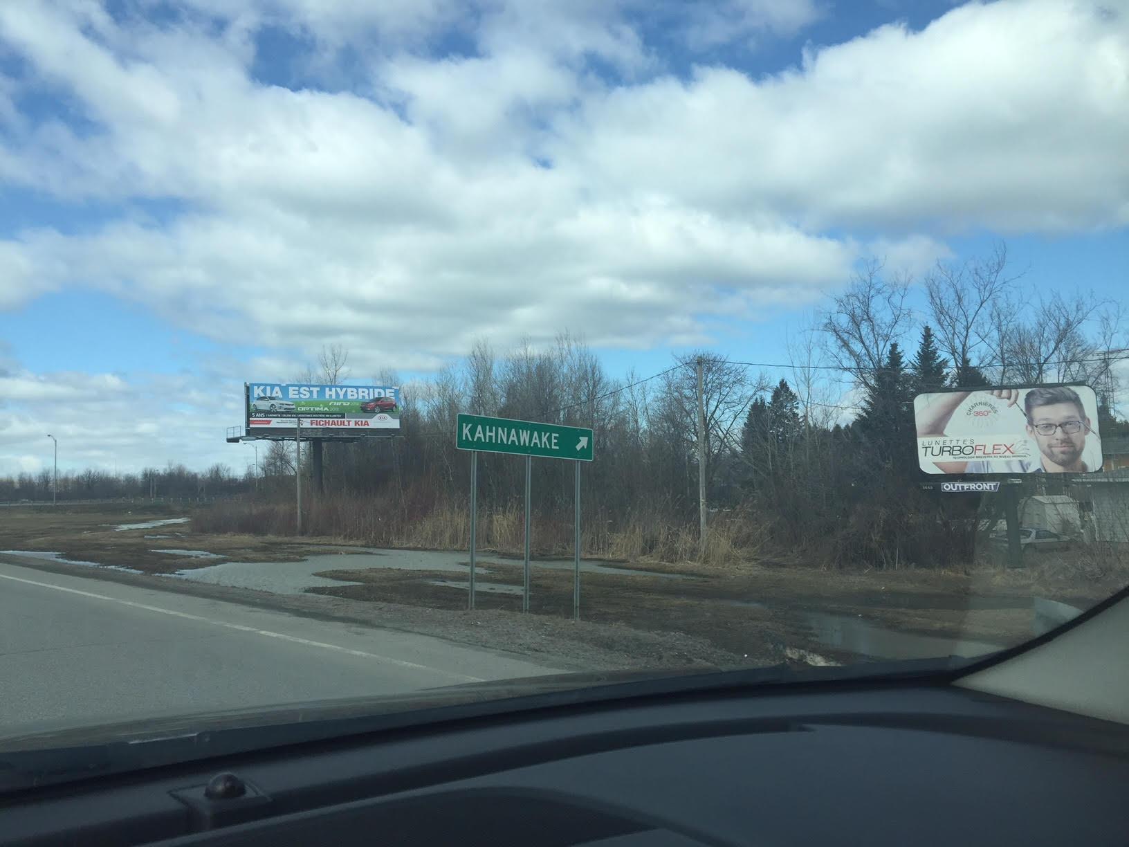 The Kahnawake sign