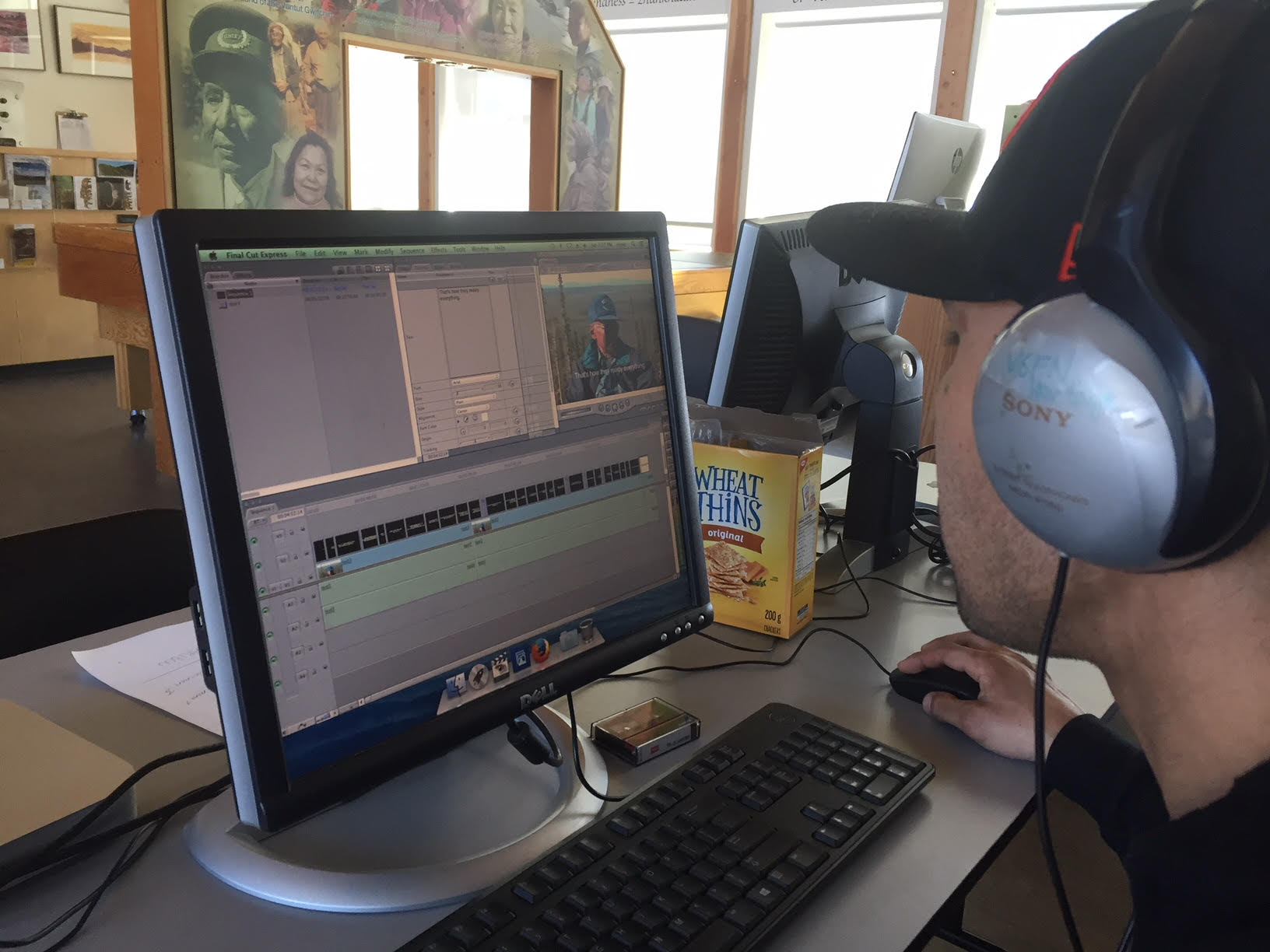 Brandon edits in final cut 7 - on an Old Crow computer - with the idea that he can make other films later…once he learns the software