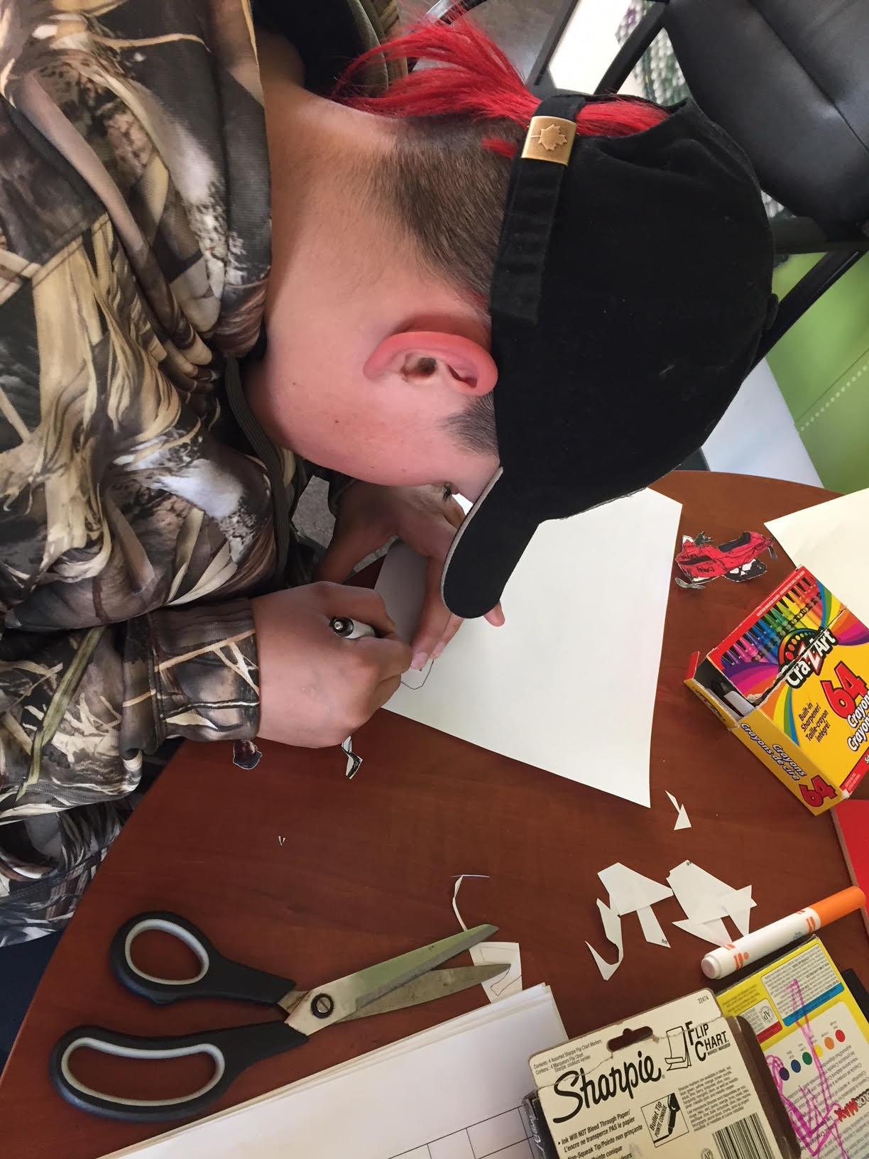 Dean creates artwork for A&D productions