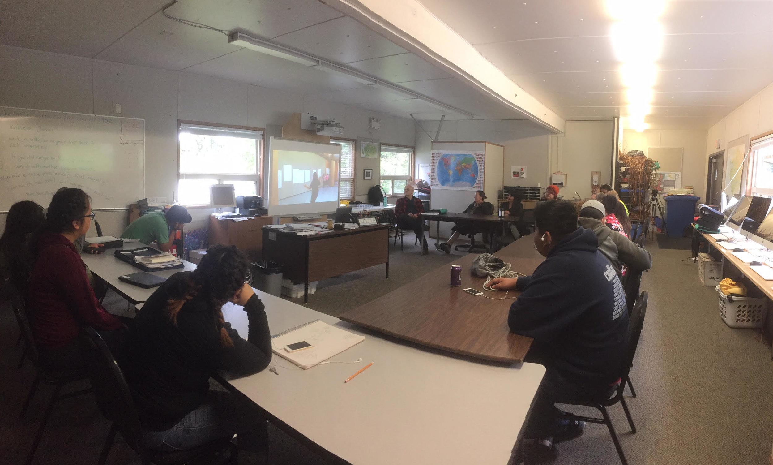 The senior student classroom