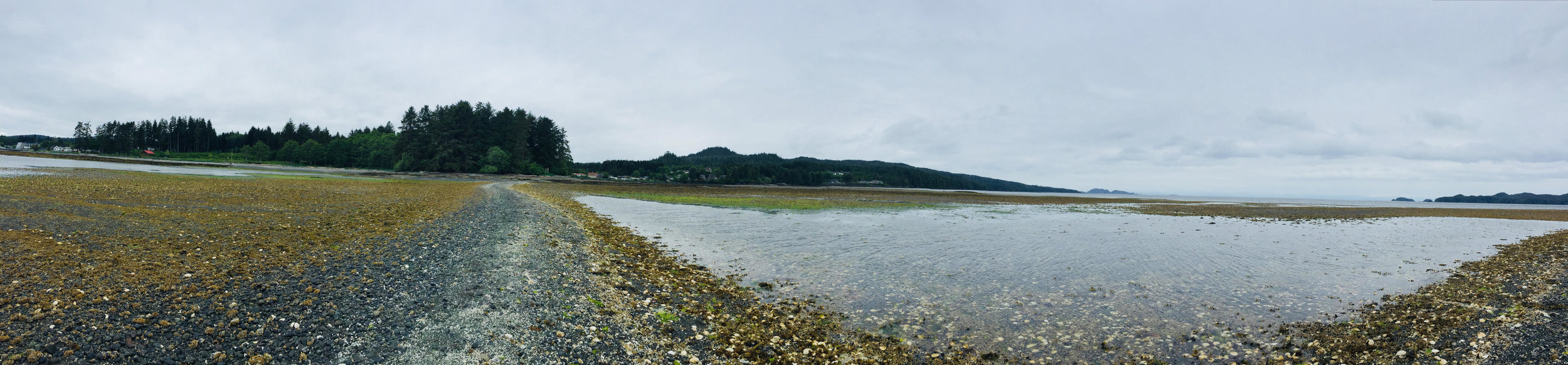 Port Hardy is on the left and Tsulquate on the right....