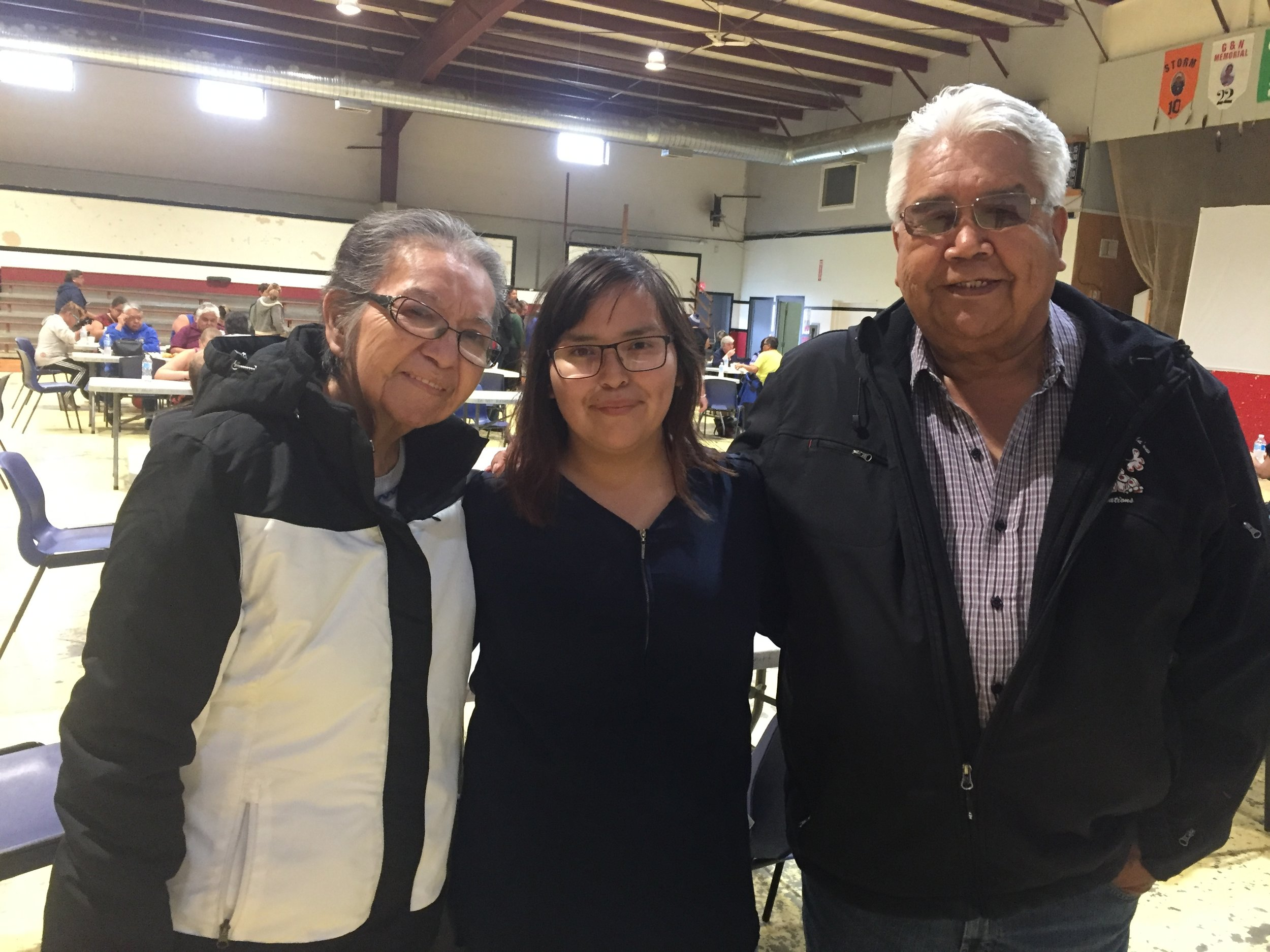 Kelly (student filmmaker) and her grandparents