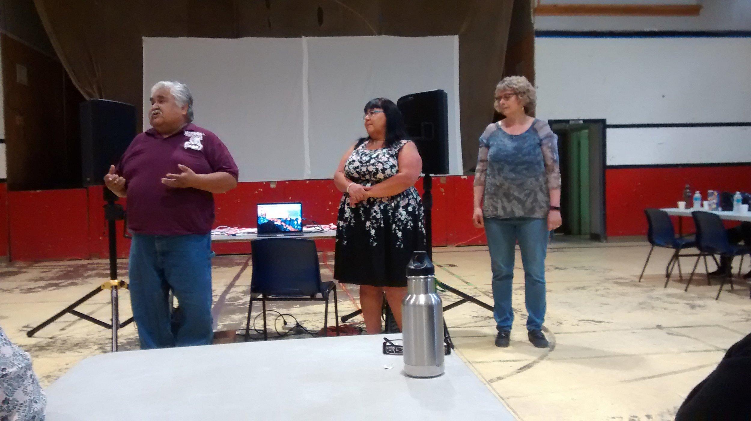 Paddy (Elder) , Leah (Teacher) and Sheila (Principal)
