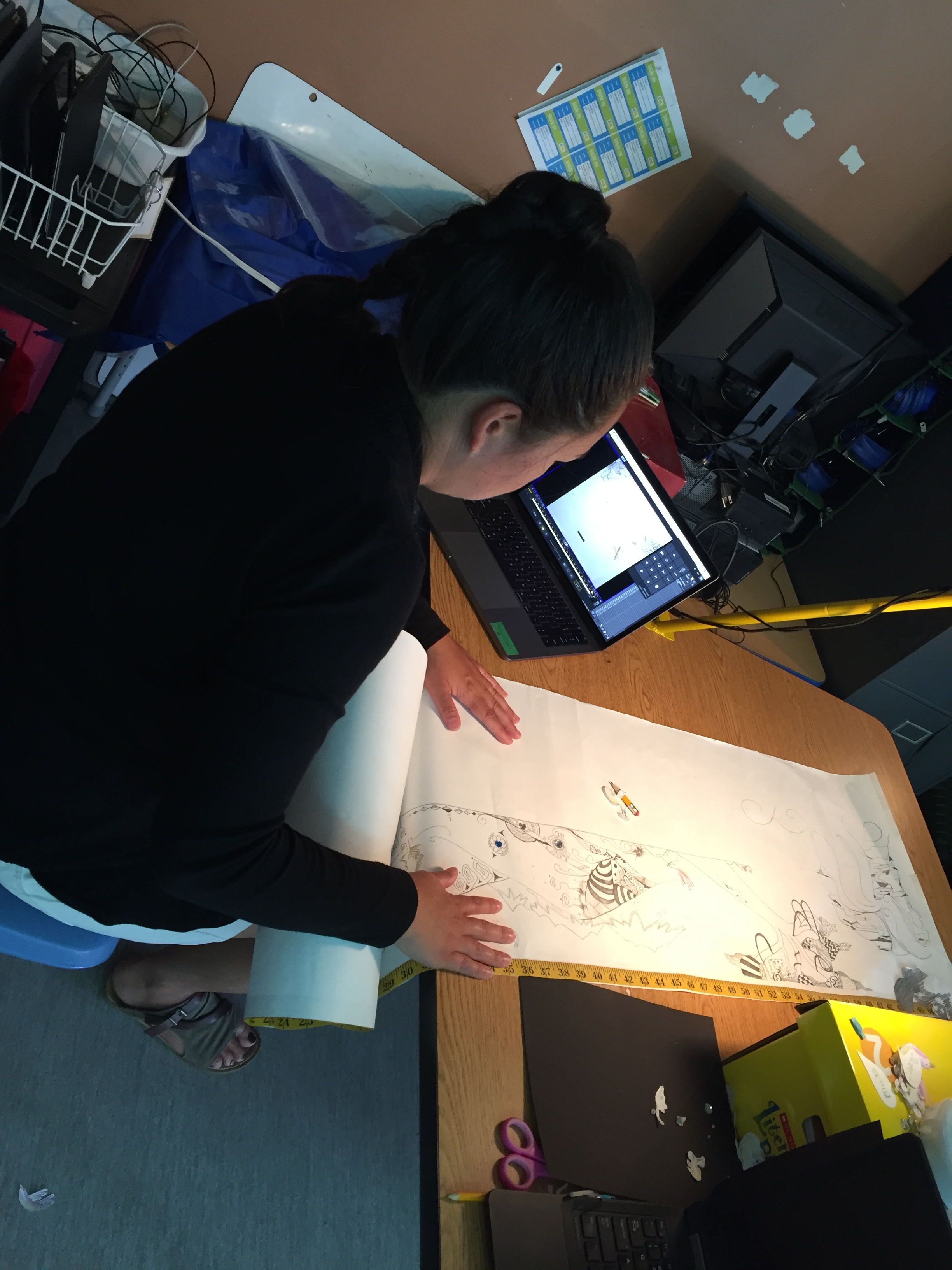 Casey in the animation zone