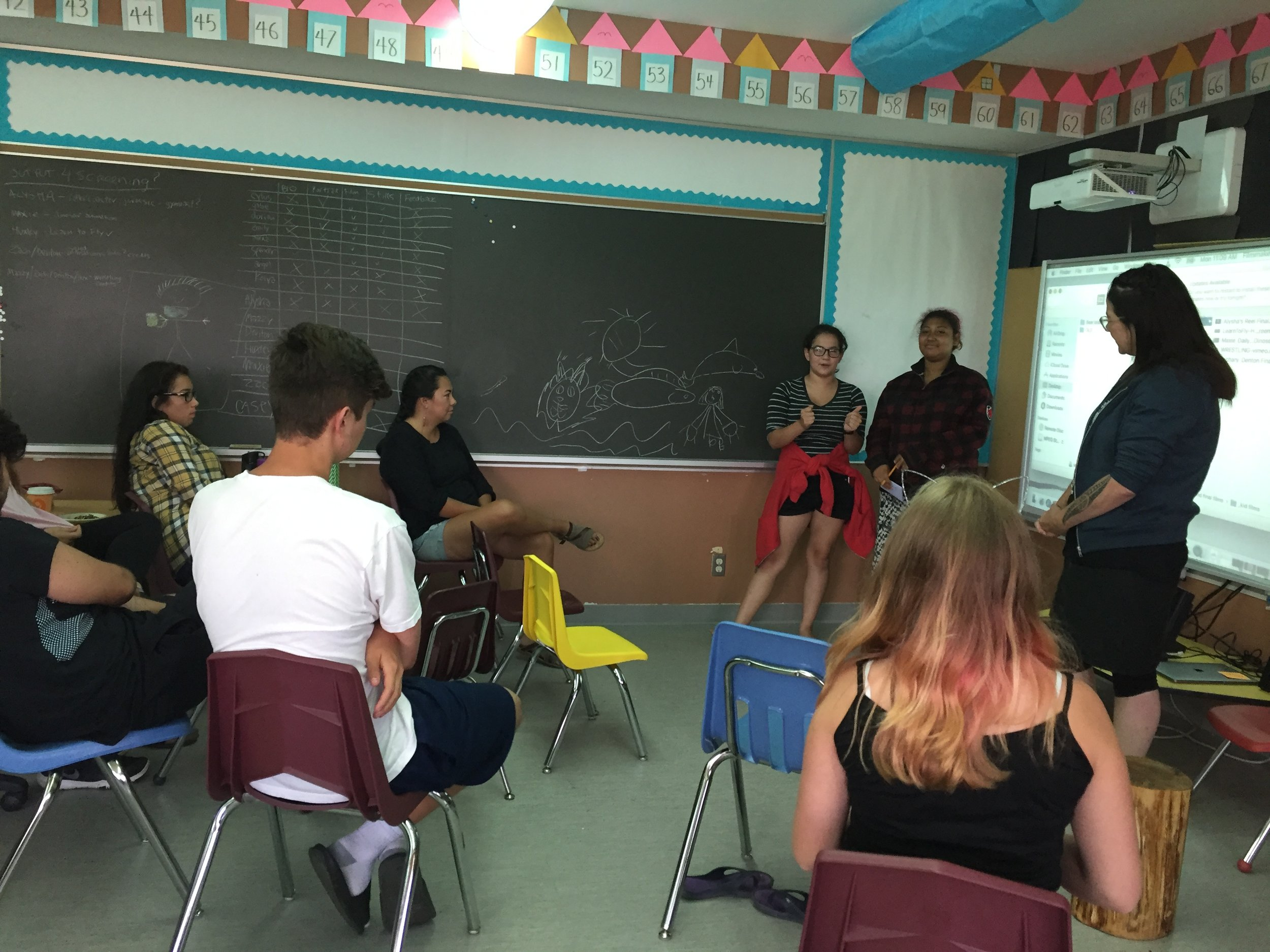 Terril conducts a Question and Answer rehearsal and Kaiya and Angel do a great job of answering all the questions!