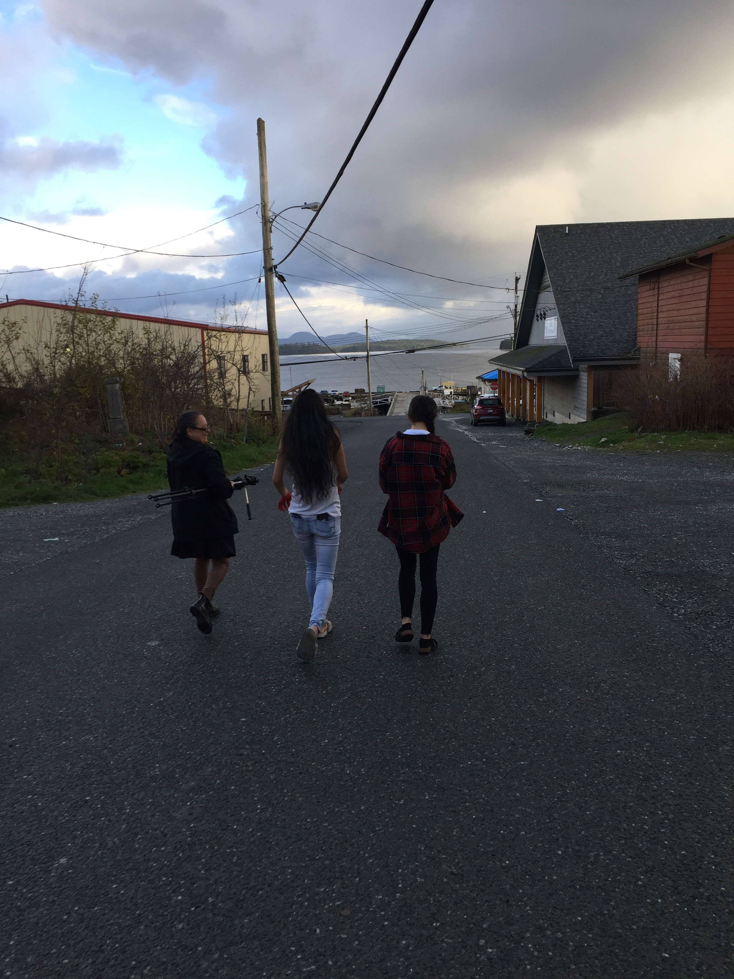 Tracy, Bella and Astrid film so b-roll around town