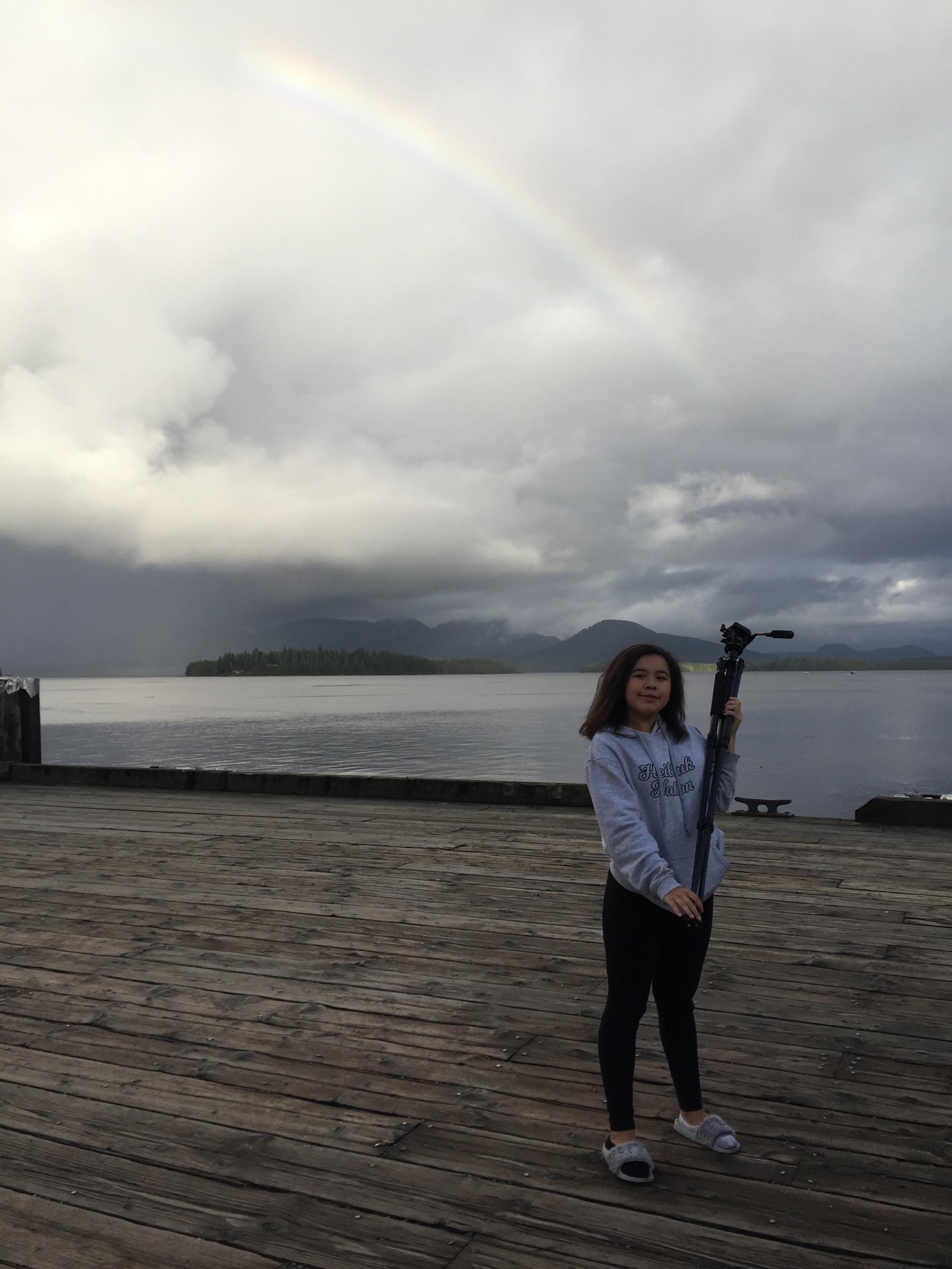 Latoya and the rainbow