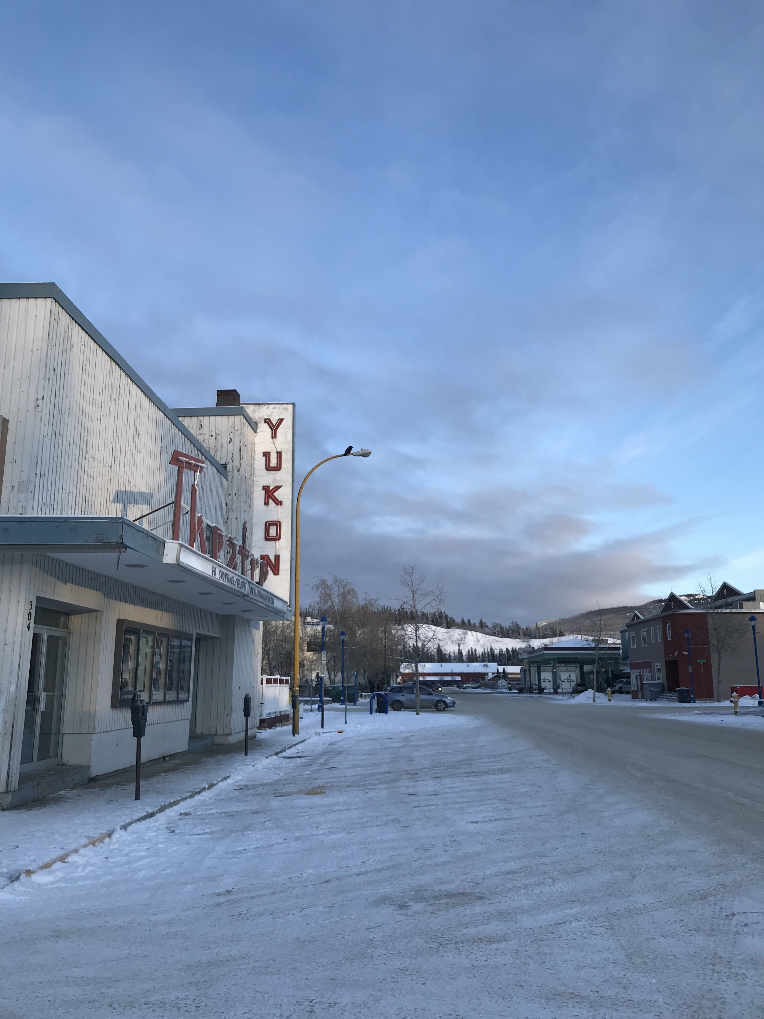 Always have to stop and admire the Yukon Theatre…