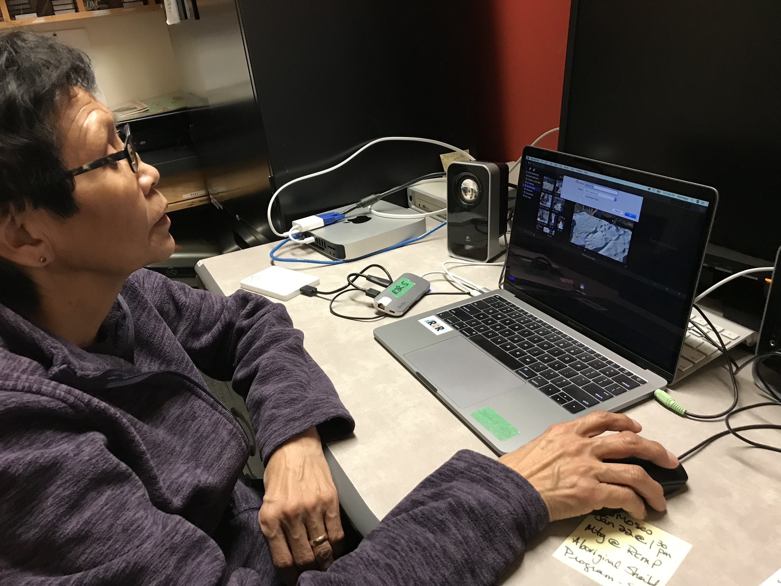 Mary Jane jumps right into learning the new Final Cut X editing program!