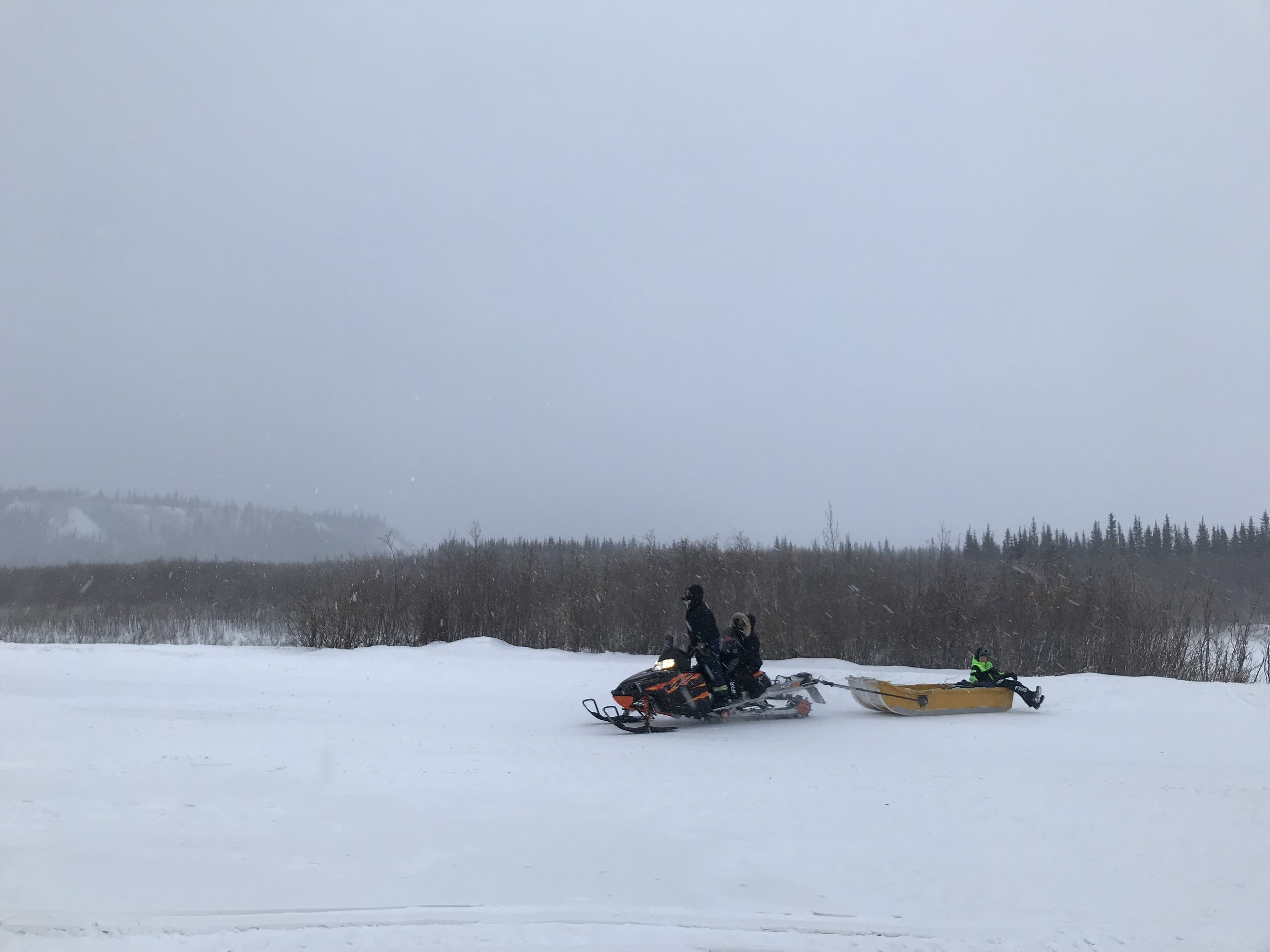 Vernon and Deana on the skidoo