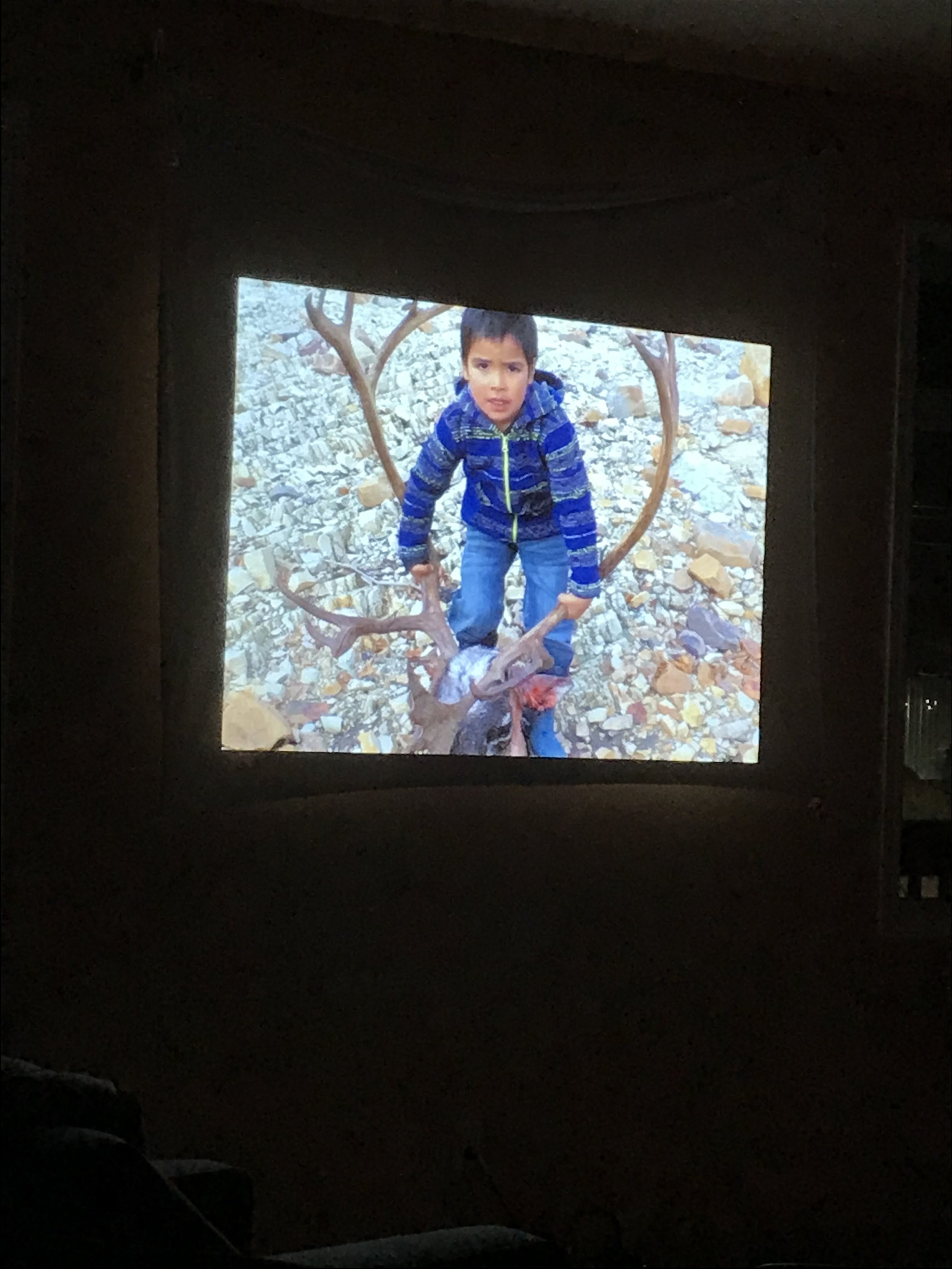 Youth made films from Old Crow were also screened