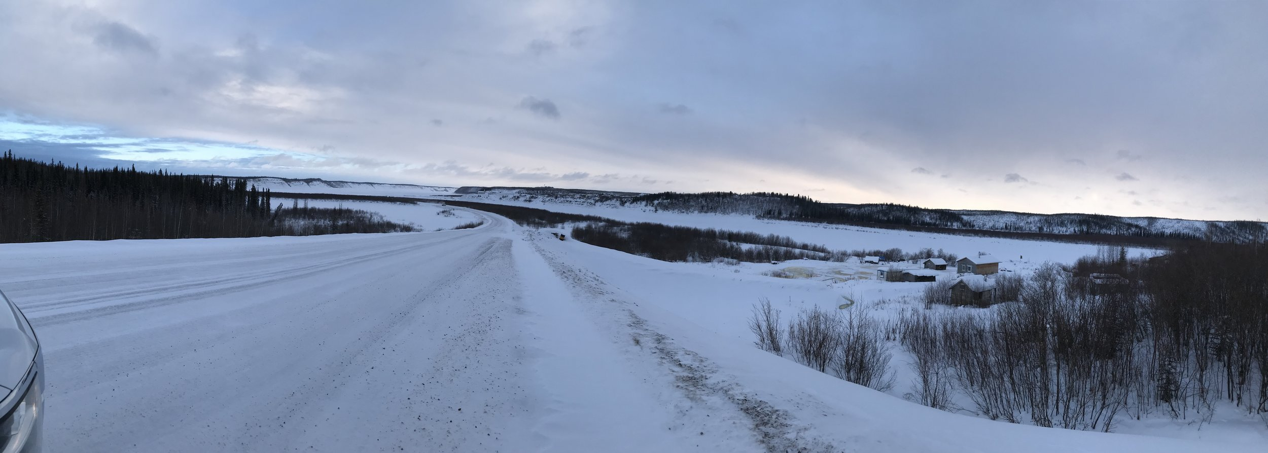 Approaching Ice bridge and Mackenzie River