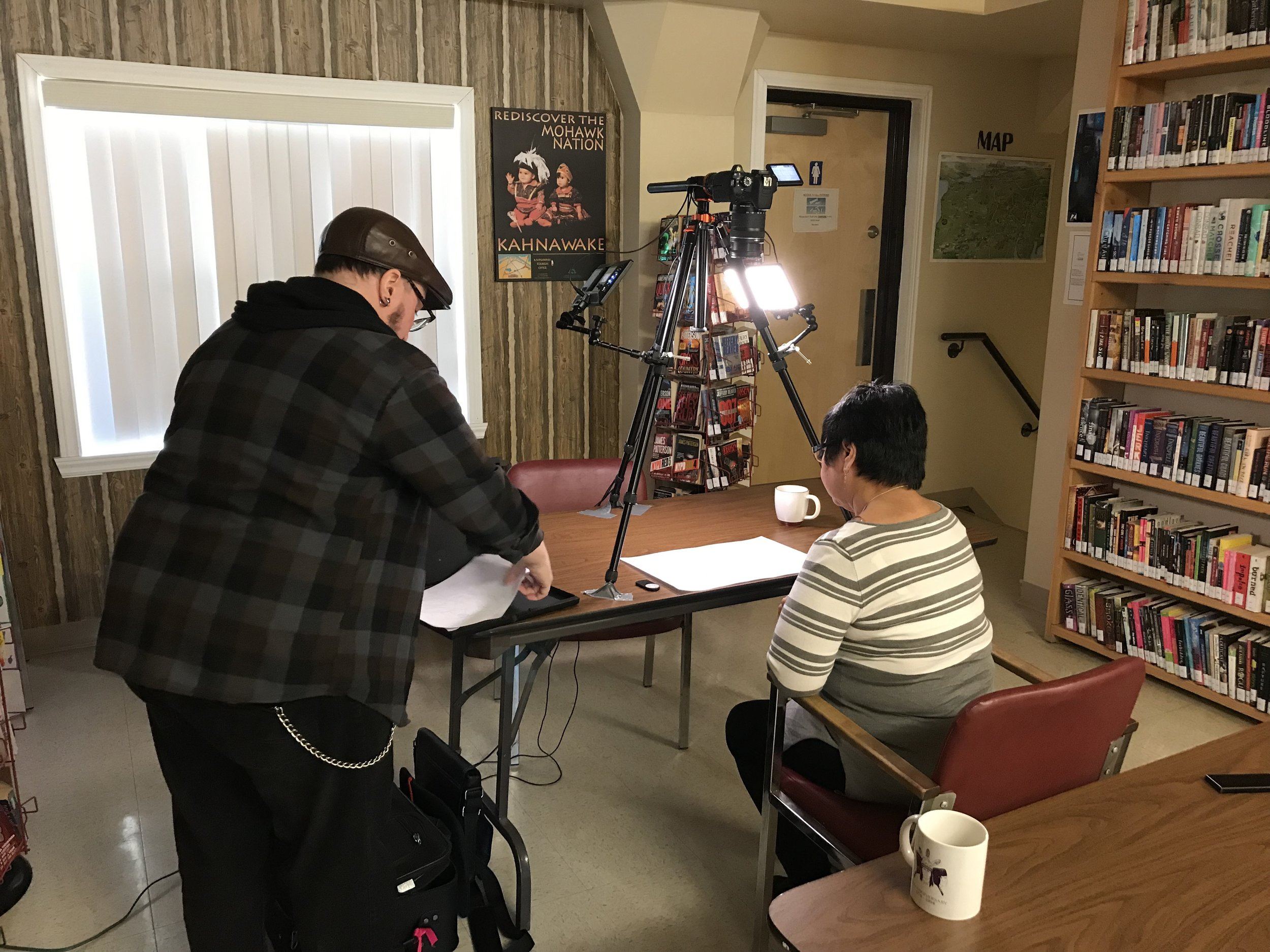 Glenn and Marlene get ready to animate
