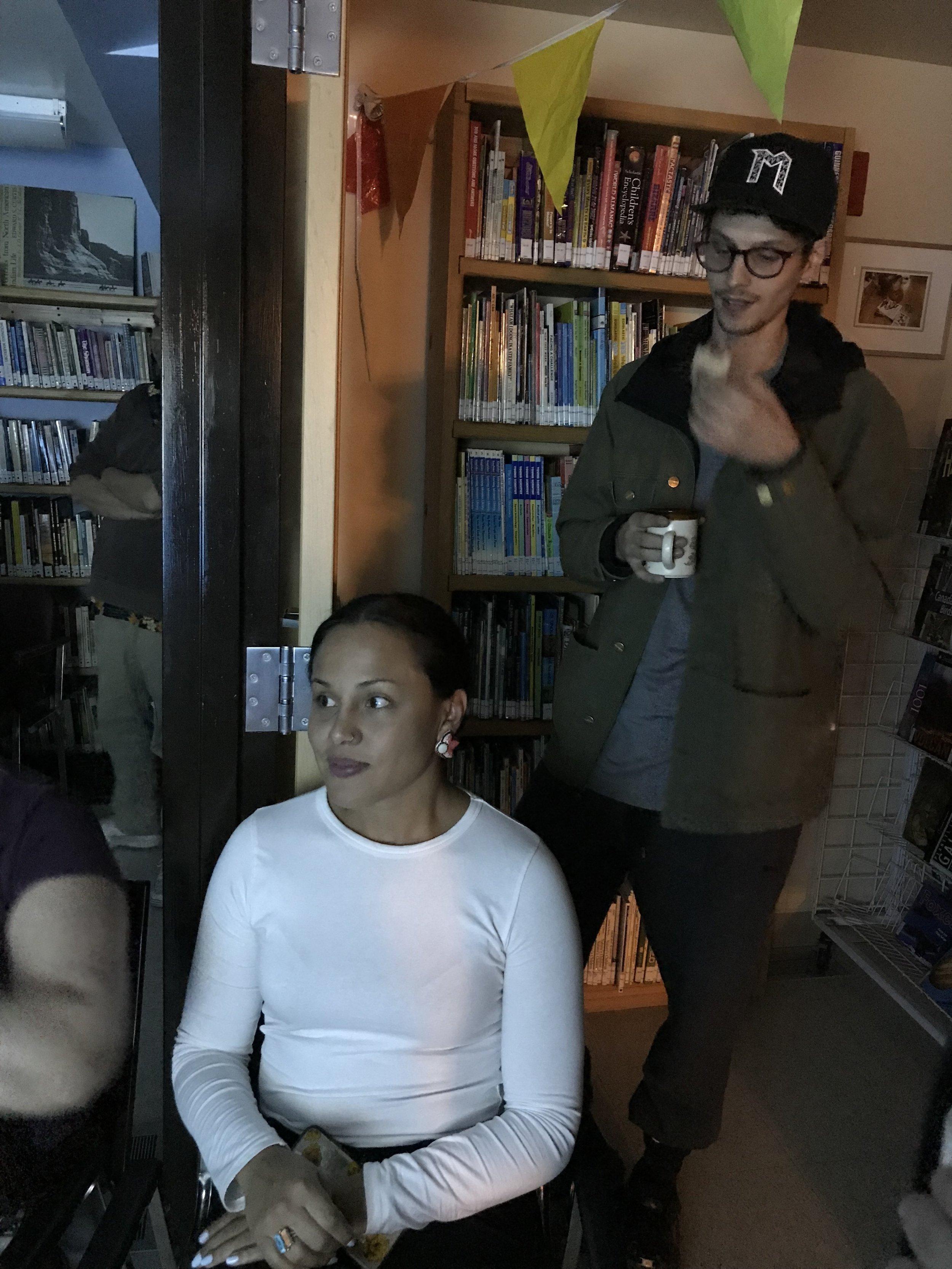 Brooke and Jackson, shy artists…