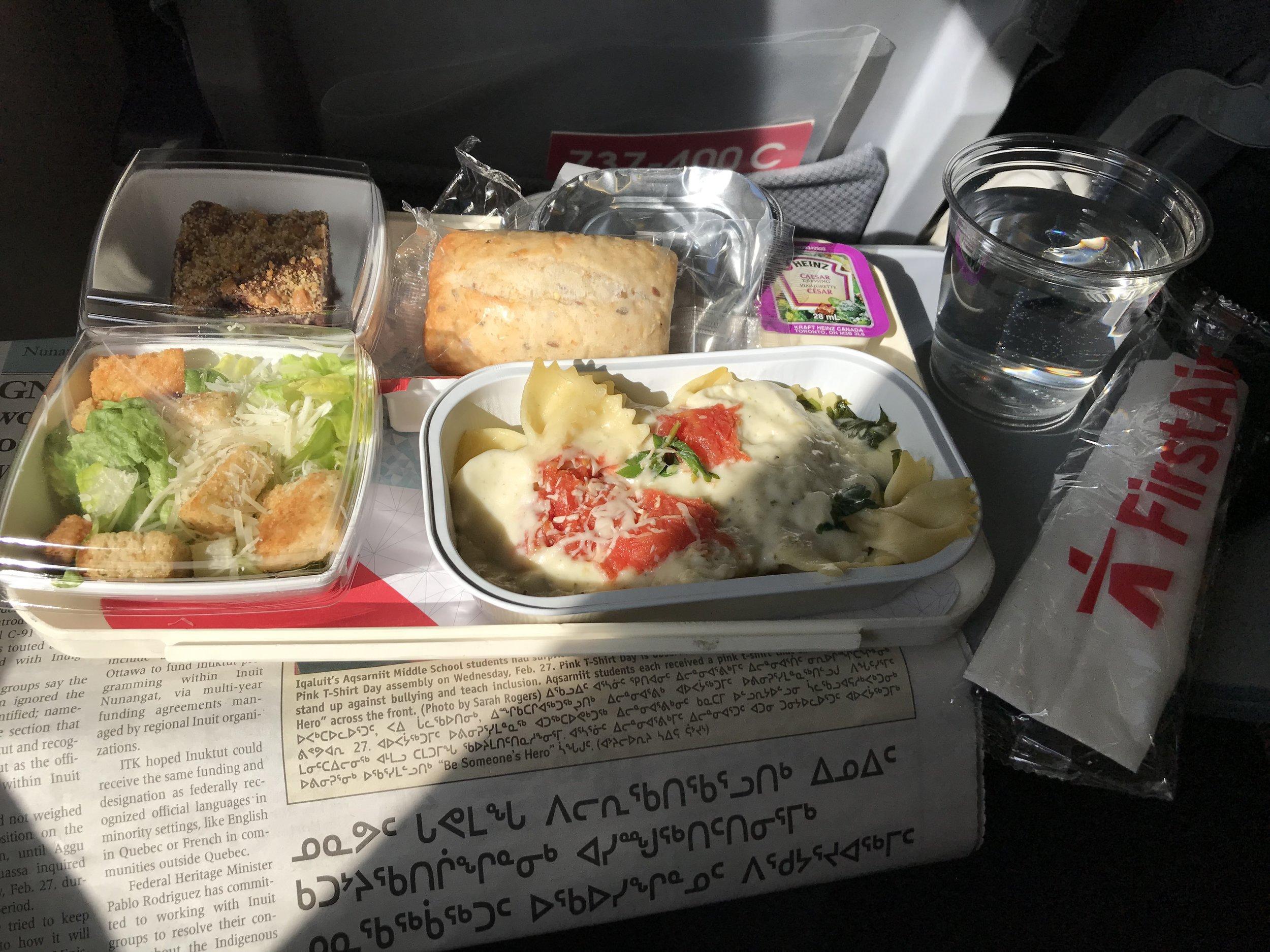 First Air serves a FREE lunch!