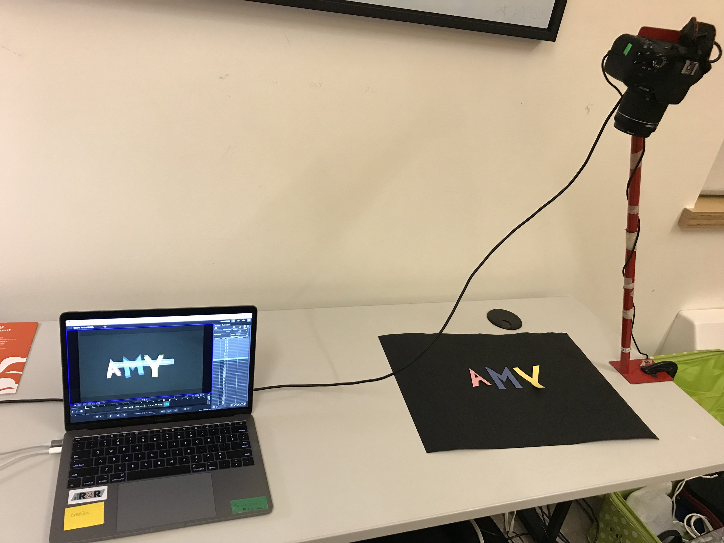 A place to animate! So excited to make films!