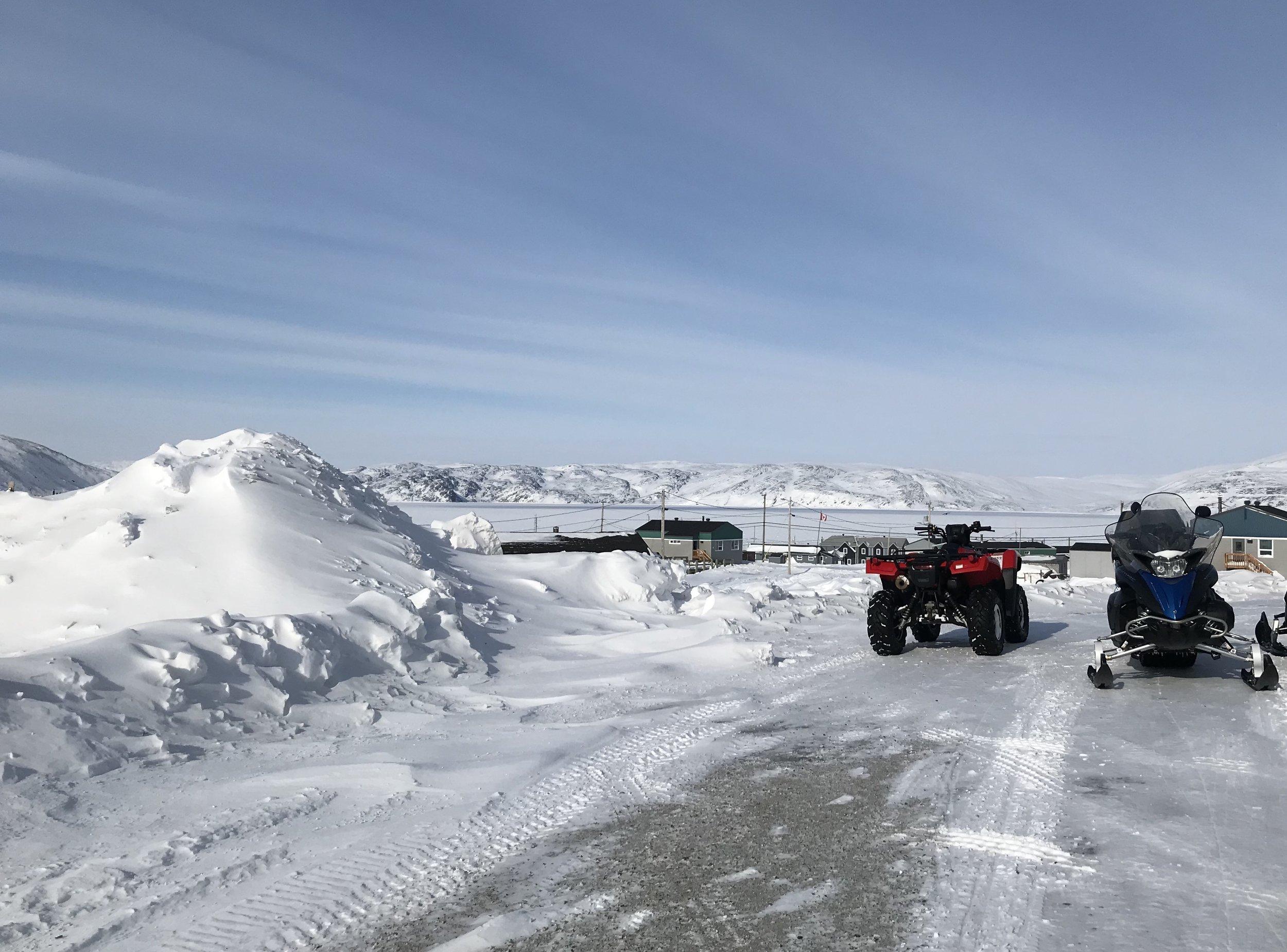 parking lot, Kangiqsujuaq style…