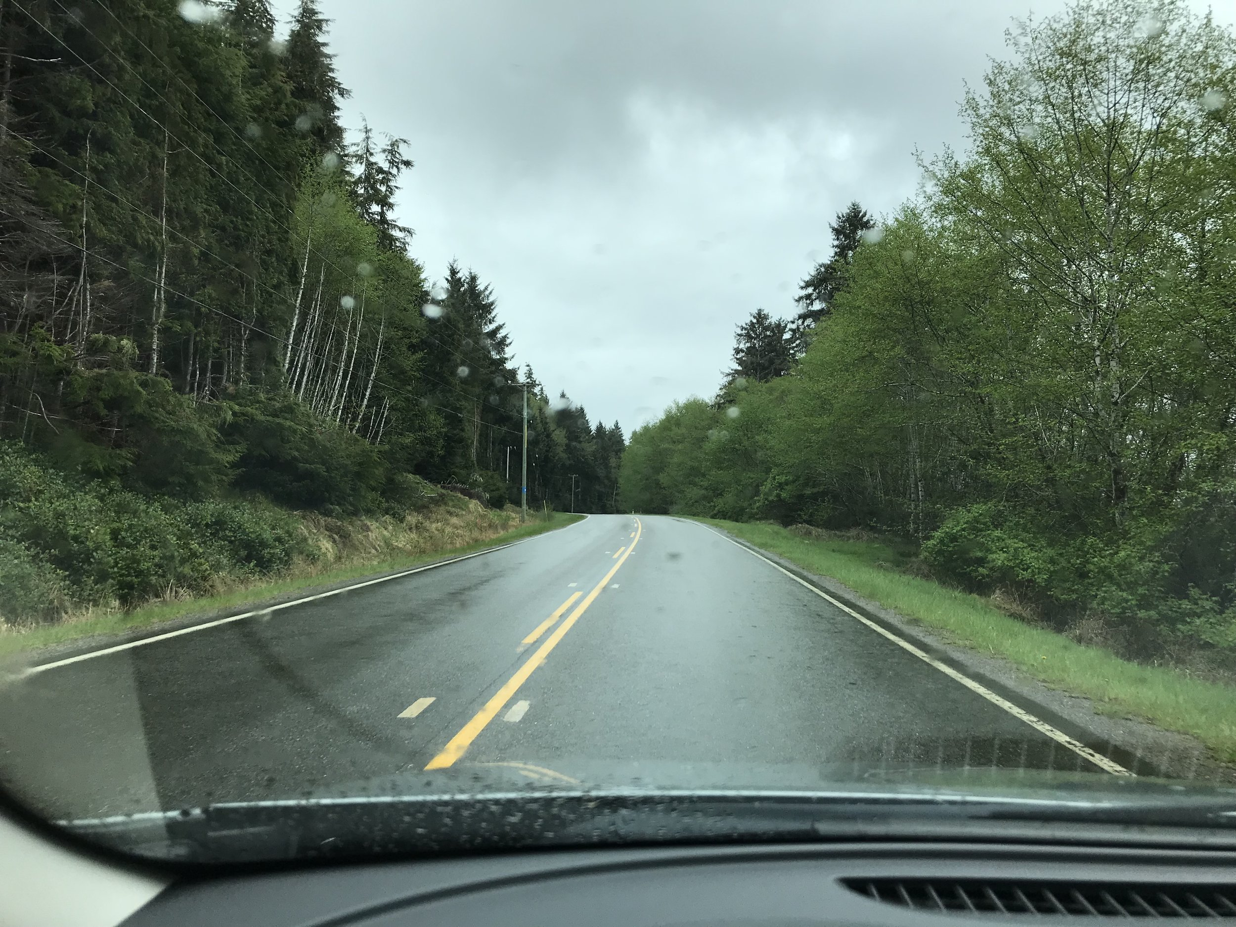 On the road to Skidegate