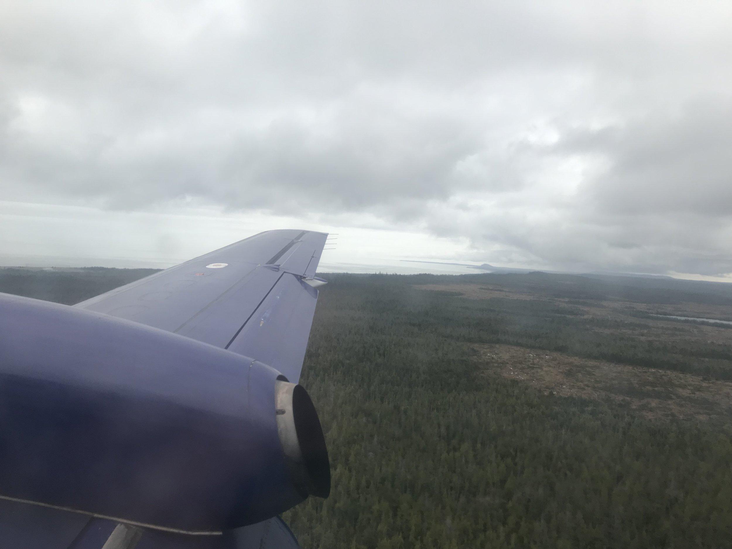 Landing in Masset