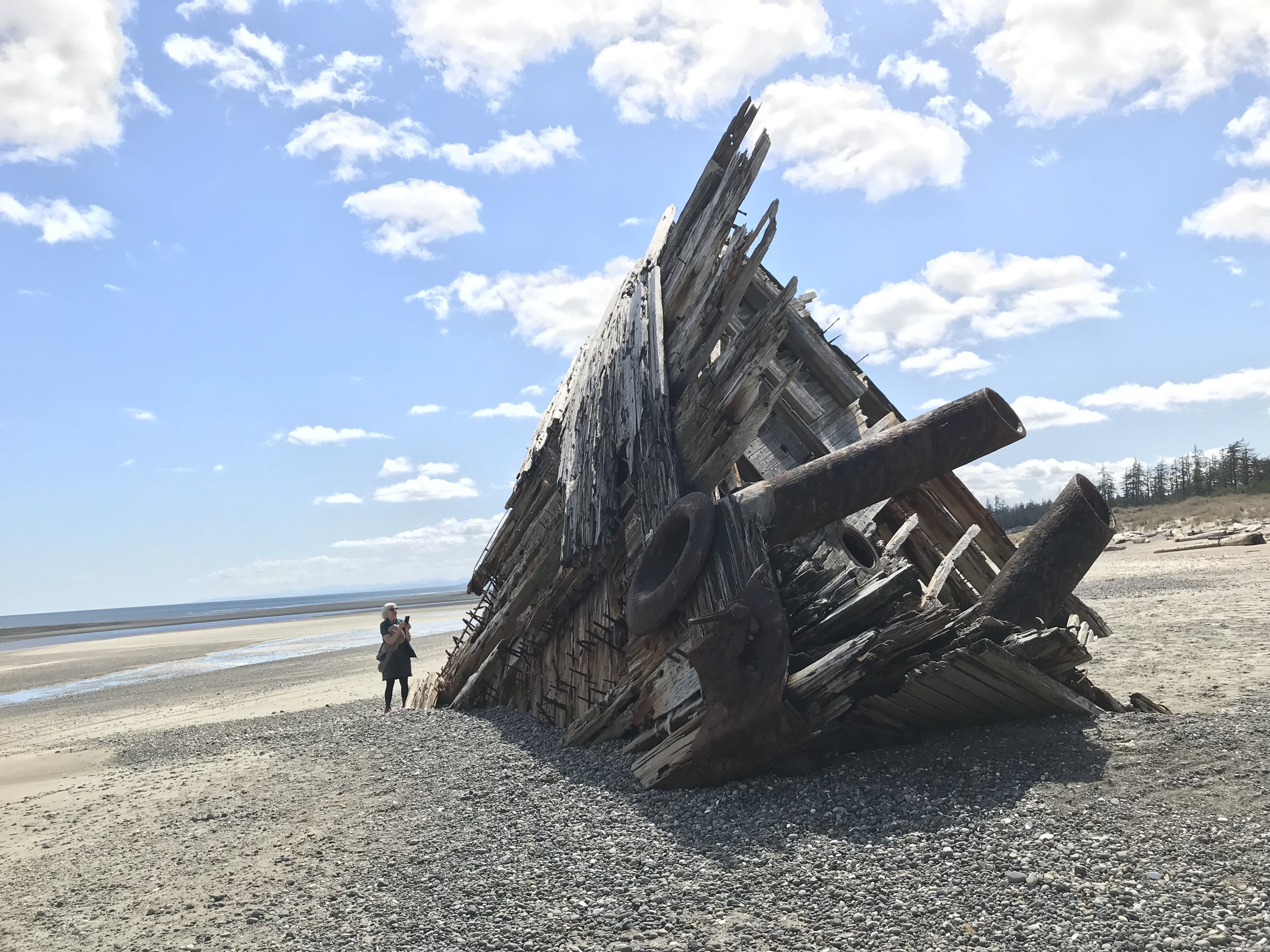 Scale of the wreck