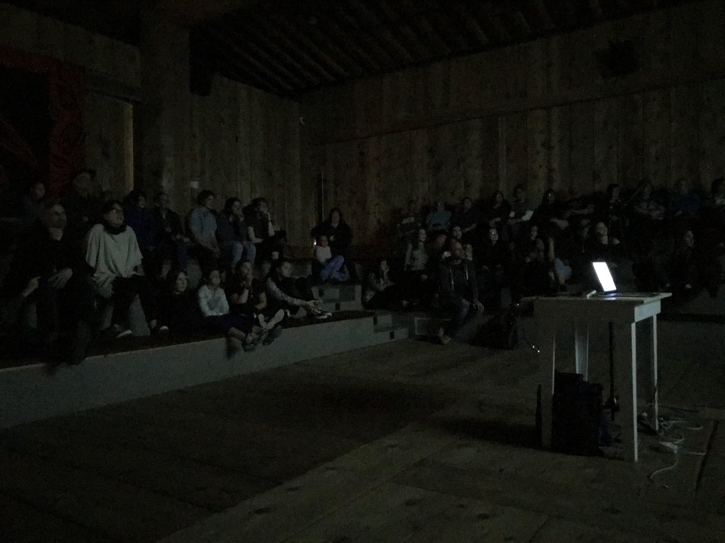 A rapt audience