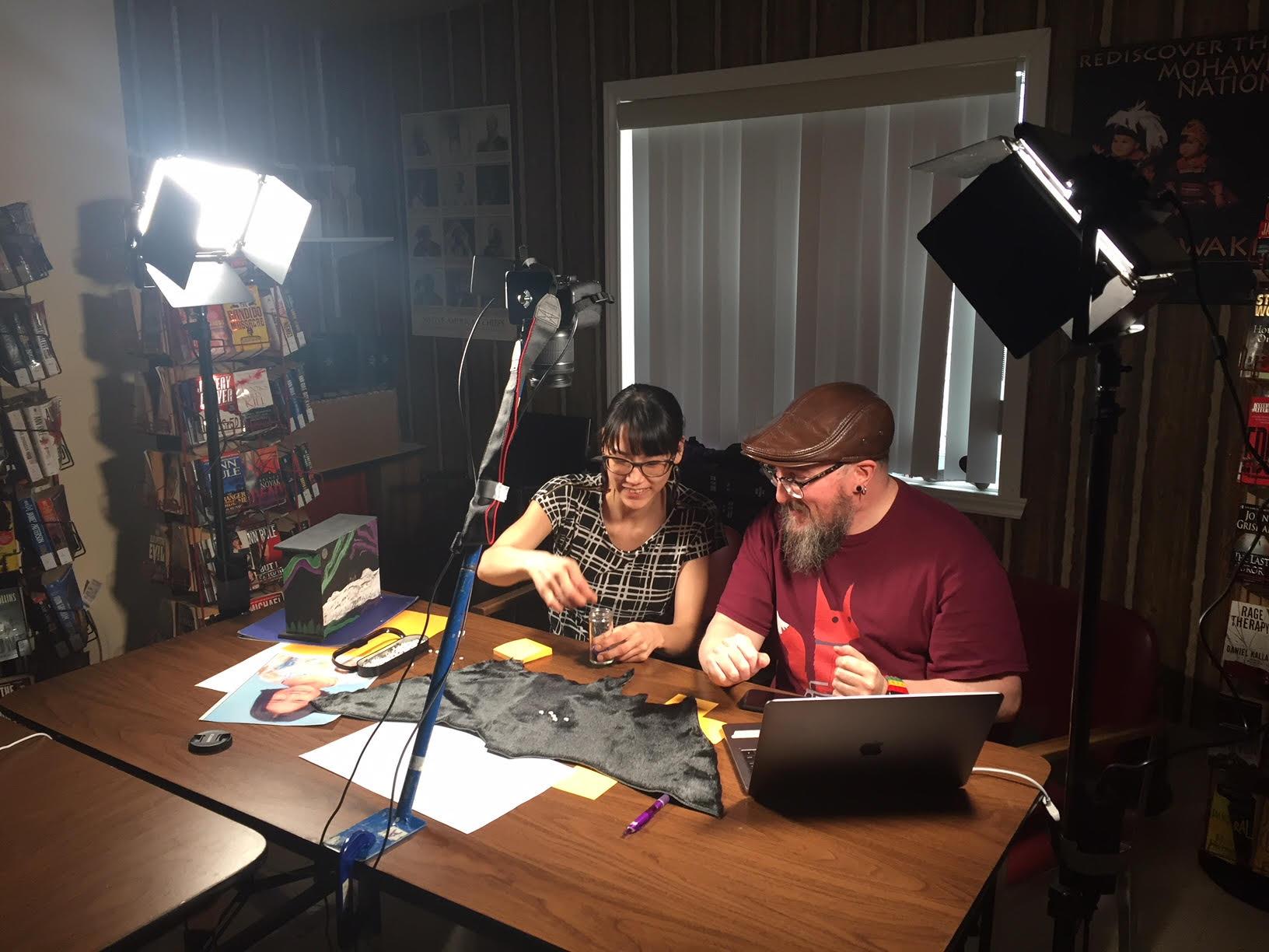 Glenn helps Pasha animate in Kahnawake