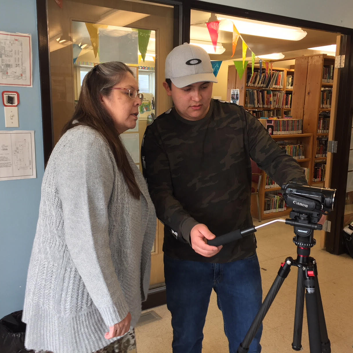 Austin introduces camera and tripod to Lorrie