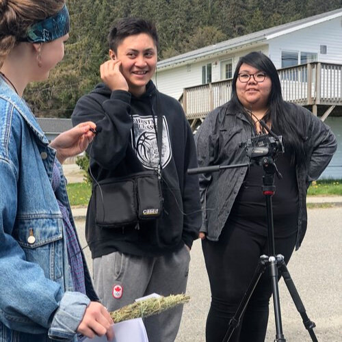 Niccola (right) helps Maggie & Gavin on their on location shoot