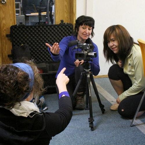 Sebnem teaches Roberta camera in Tsulquate