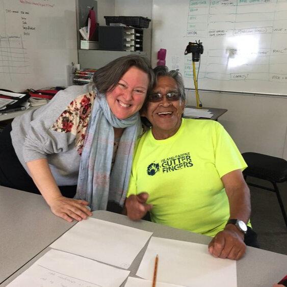 Julie with elder TK Henderson in Tsulquate