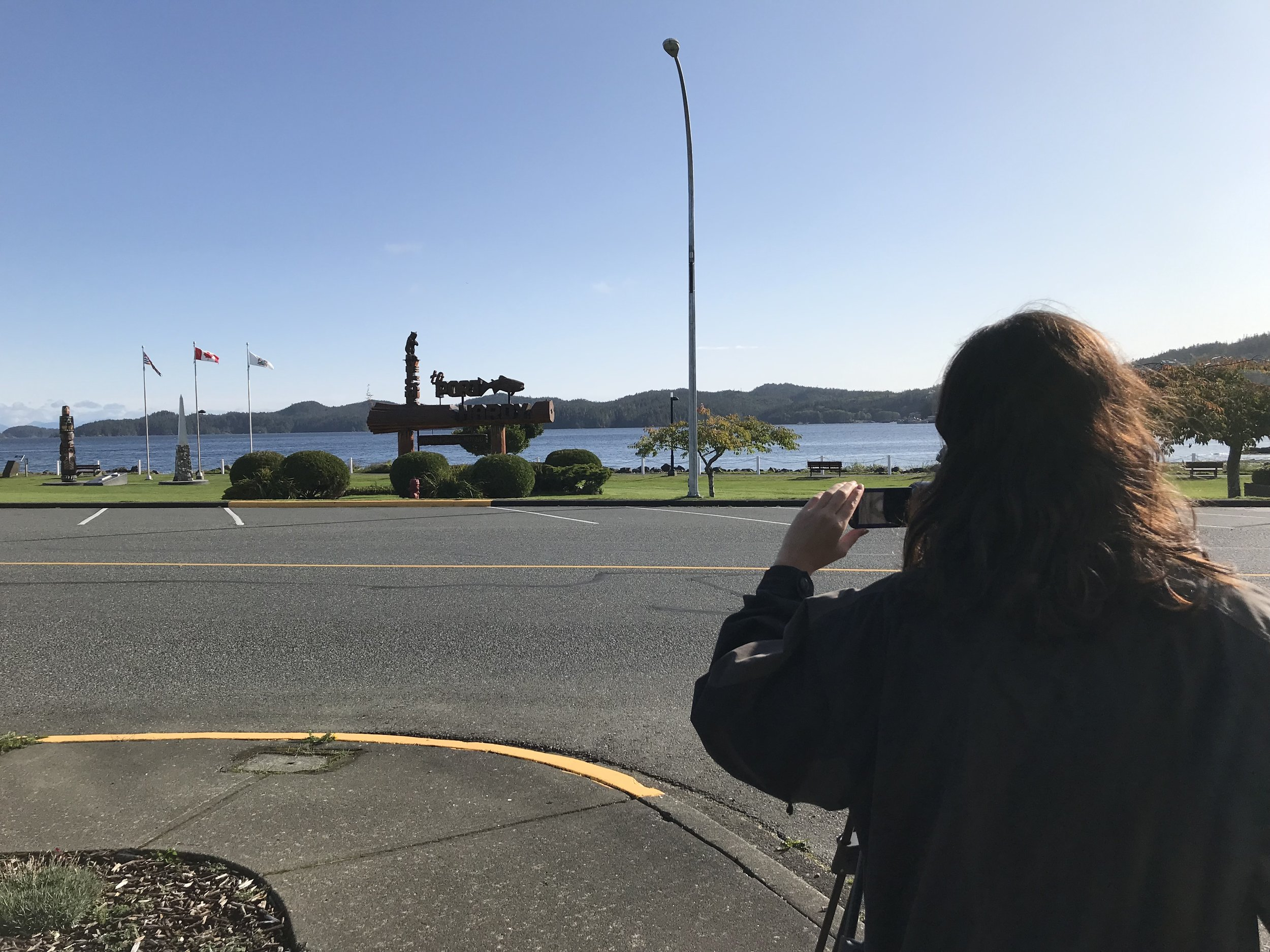 Shekinah gets some location shots around Port Hardy