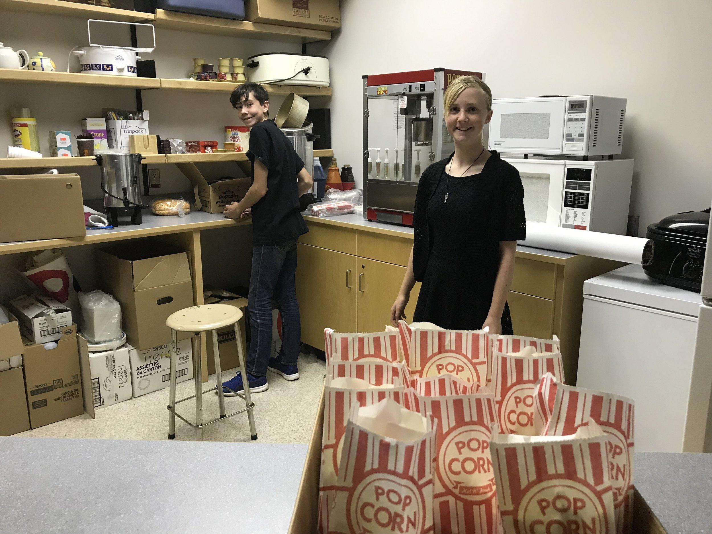 Josh & Laurie make popcorn!