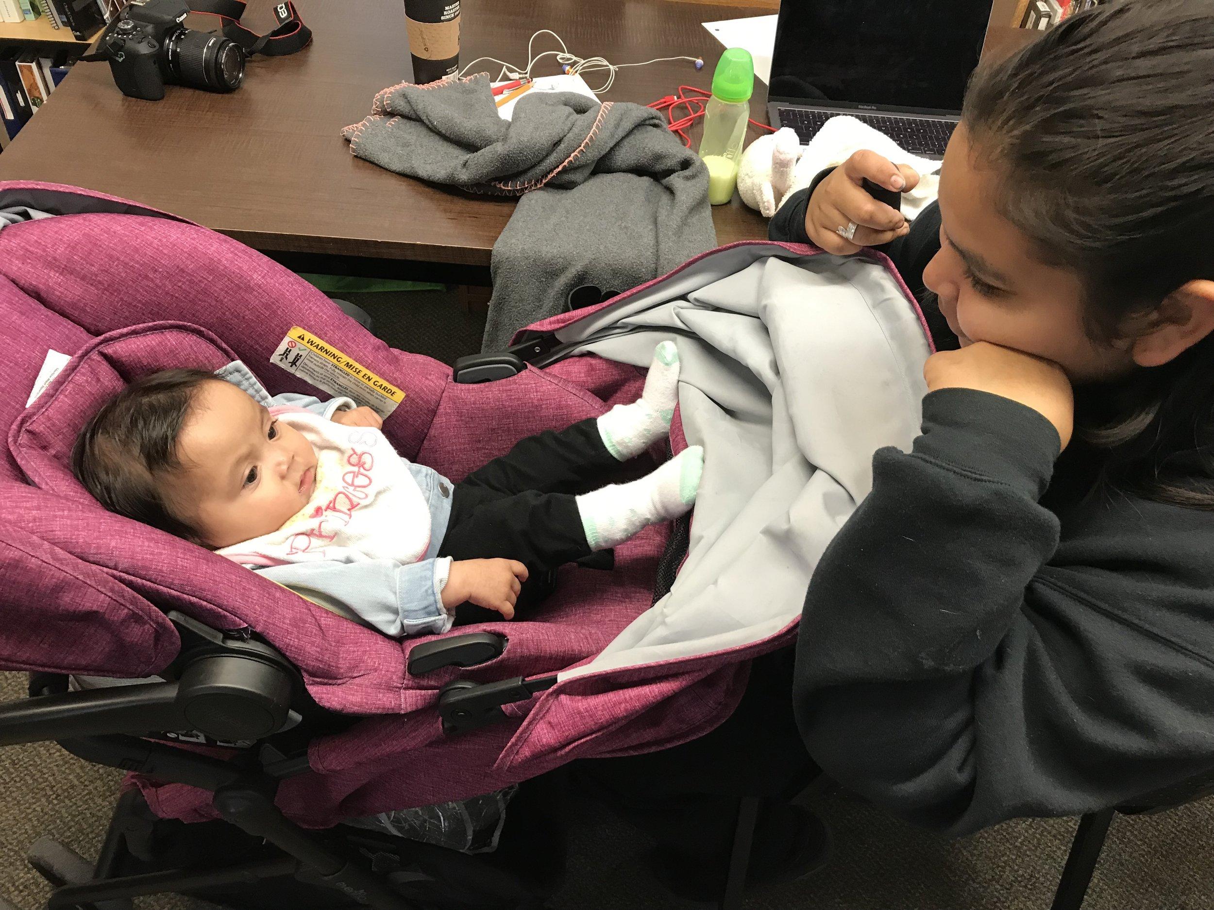 A visiting baby filmmaker?