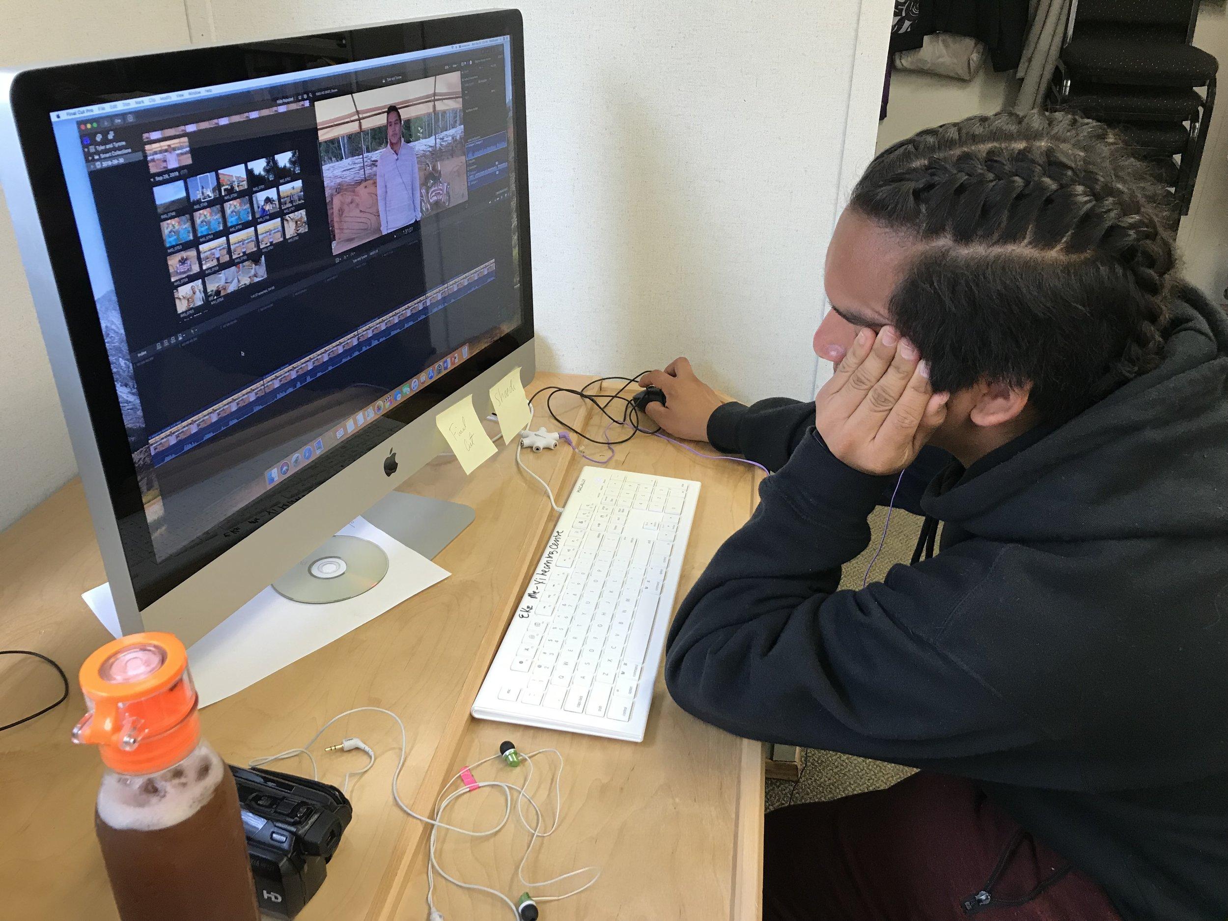 Tyler learns editing qucikly