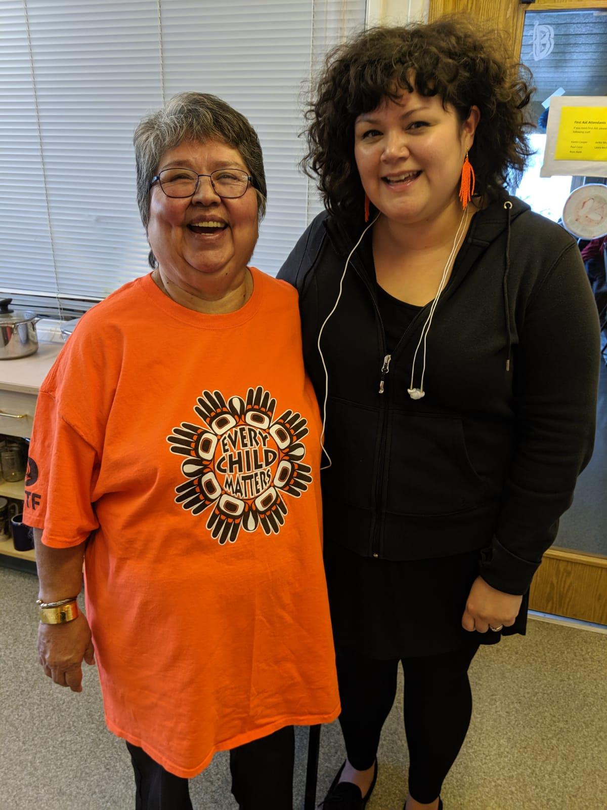 orange shirt day with Nancy and Lisa W