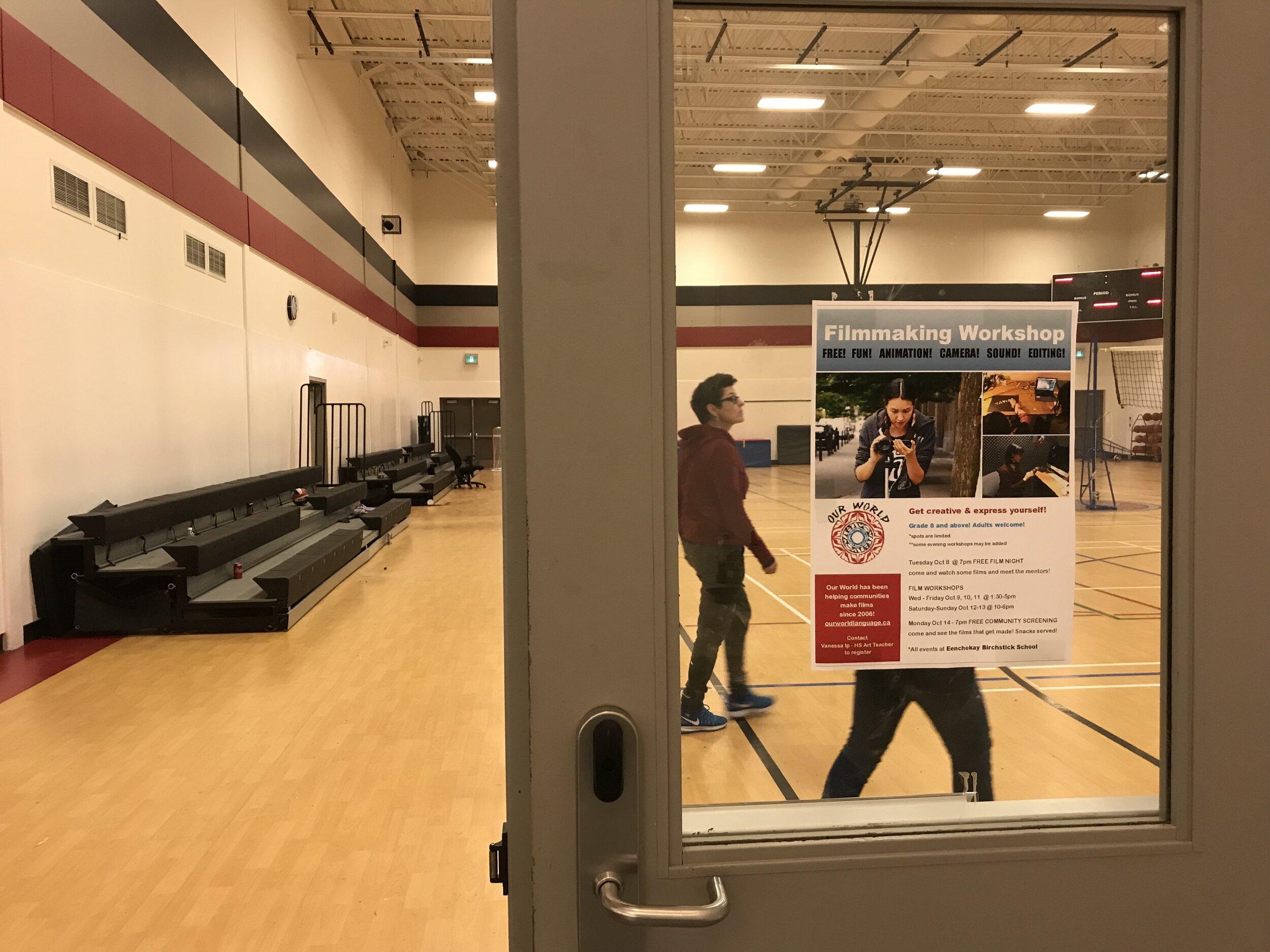 Mentor Nadine checks out the gym