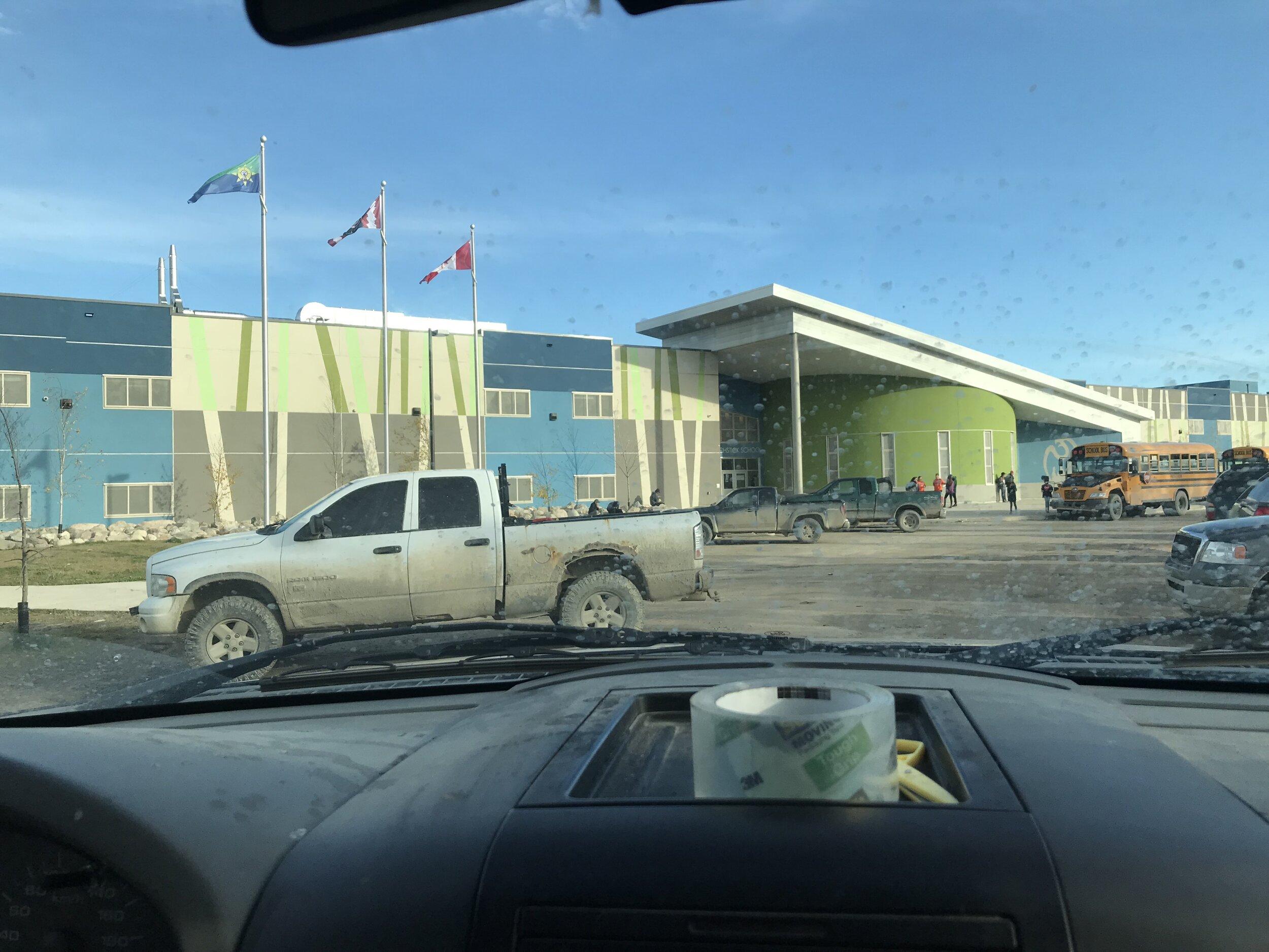first stop Eenchokay Birchstick School