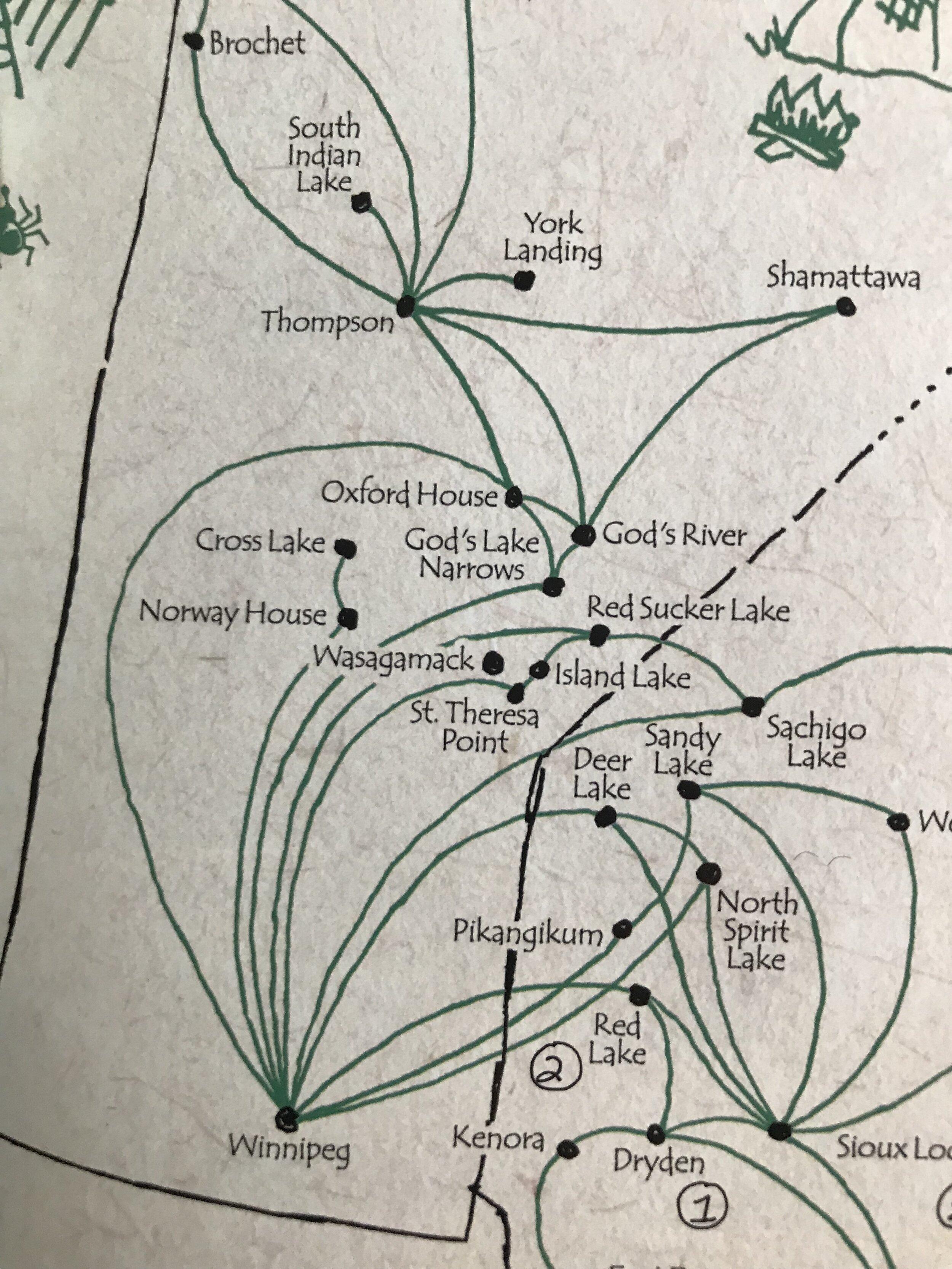 Perimeter flight paths…