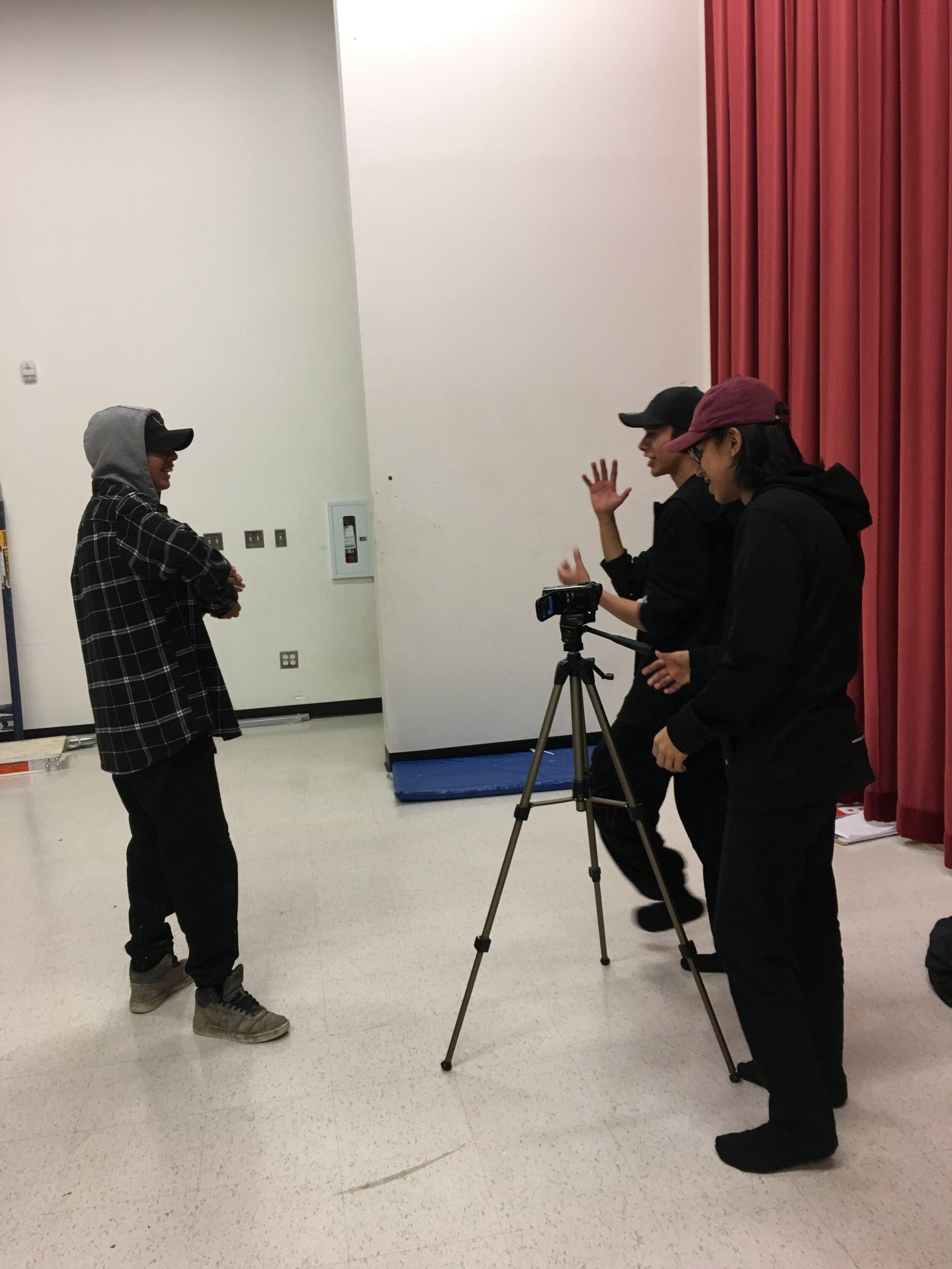 Kamden, Delroy & Brentyn practice camera