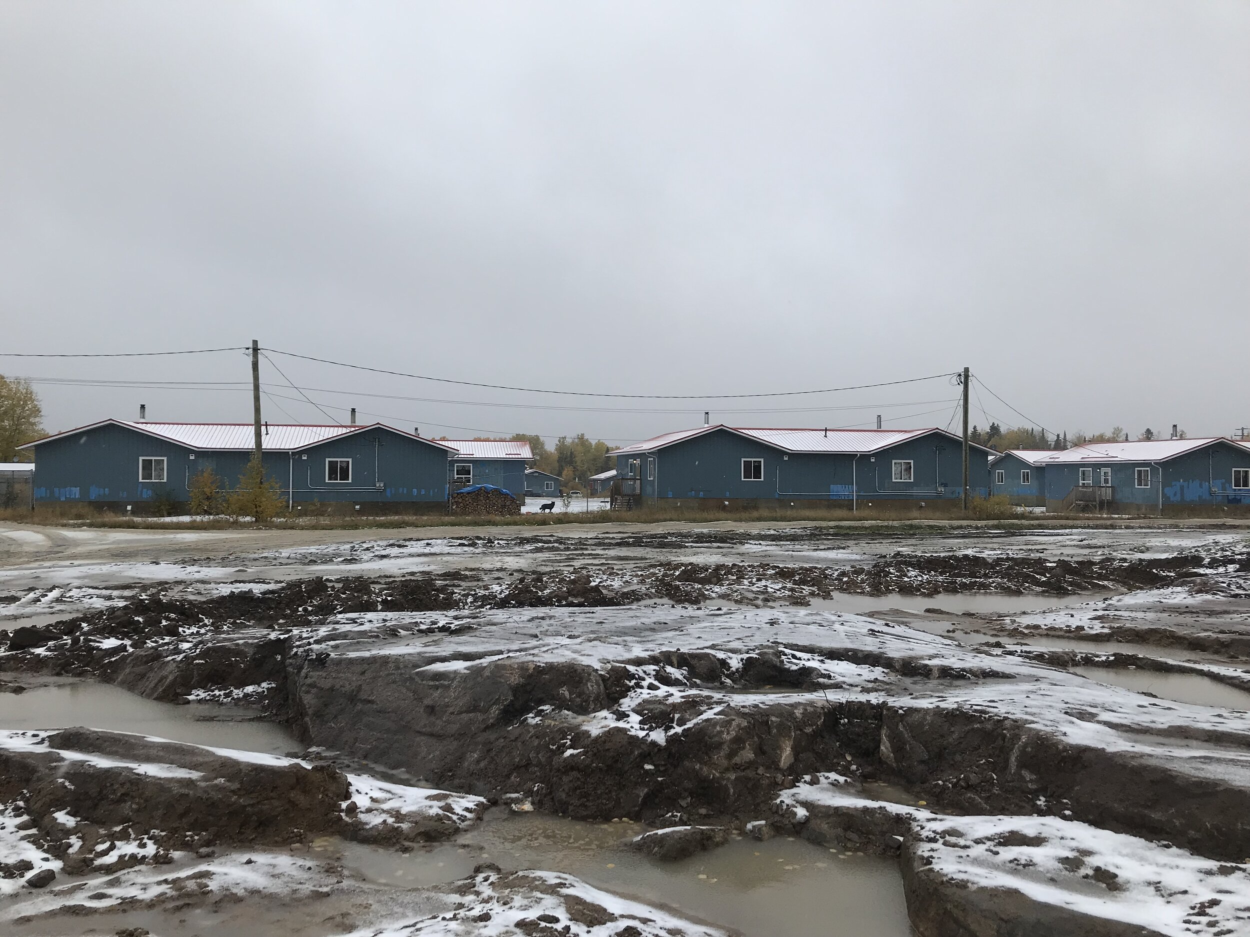 The portables for the temporary school, these are now homes.