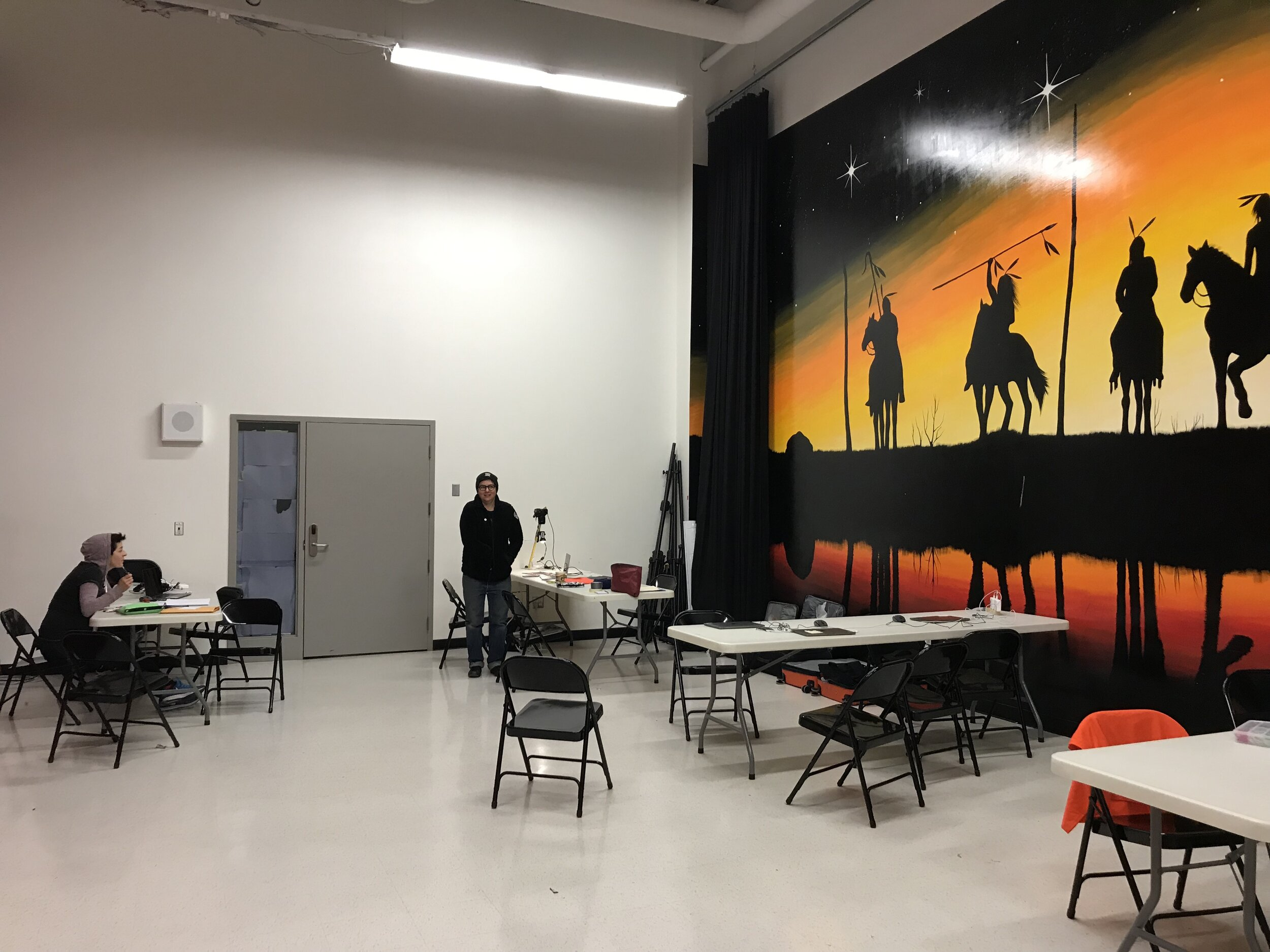 Our 'on the stage' workshop space